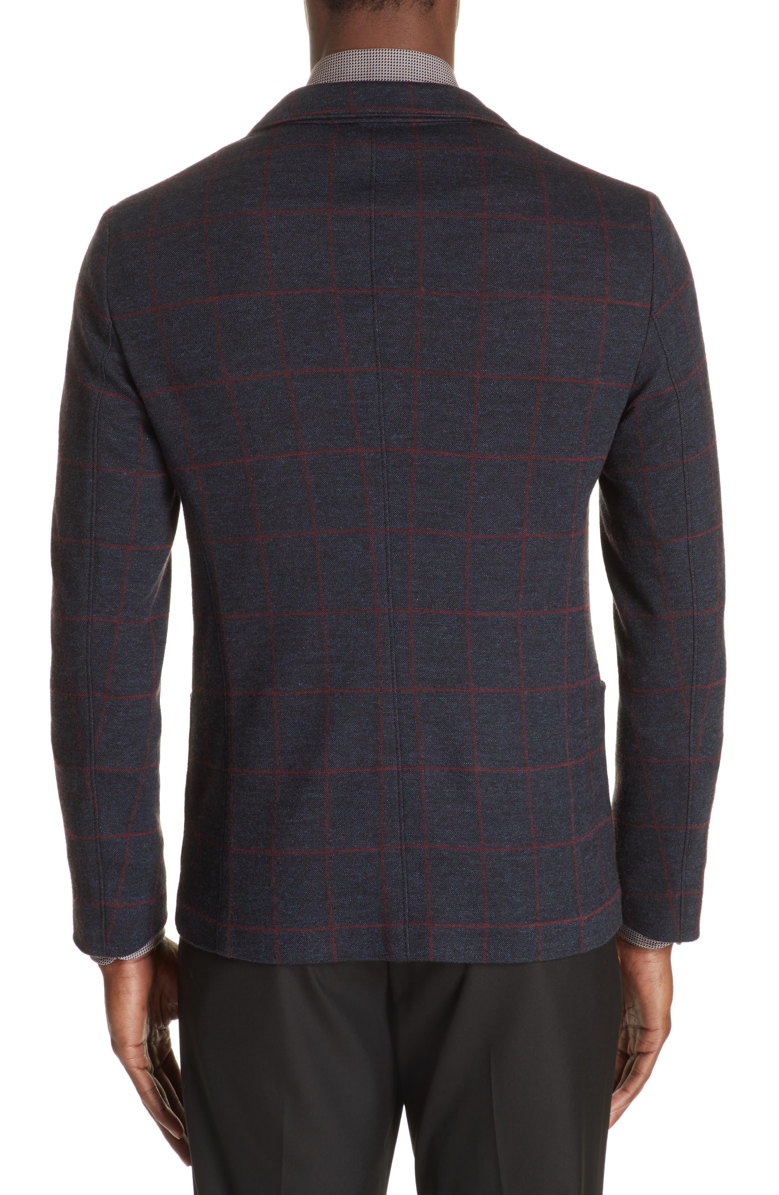 Trim Fit Windowpane Cotton Blend Sport Coat,                             Alternate thumbnail 2, color,                             BLUE MULTI