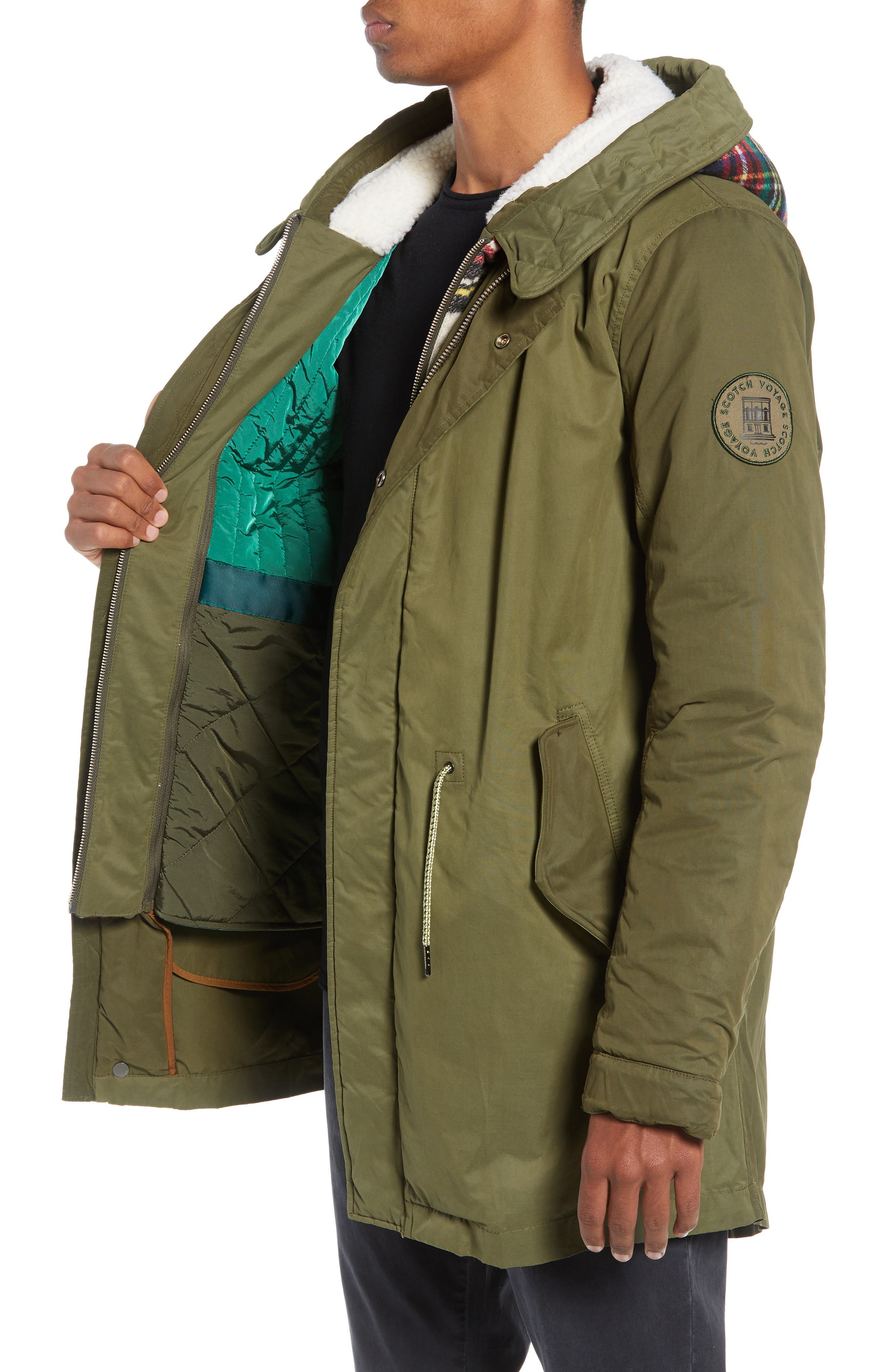 Seasonal Parka with Removable Lining and Detachable Faux Shearling Hood,                             Alternate thumbnail 3, color,                             301
