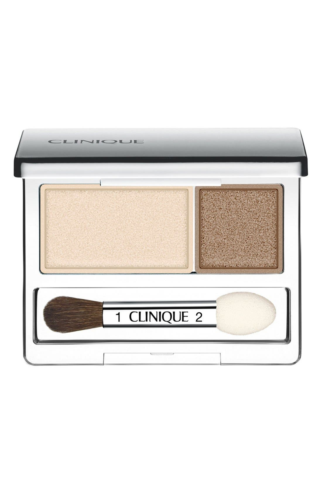 All About Shadow Eyeshadow Duo,                             Main thumbnail 1, color,                             IVORY BISQUE/ BRONZE SATIN