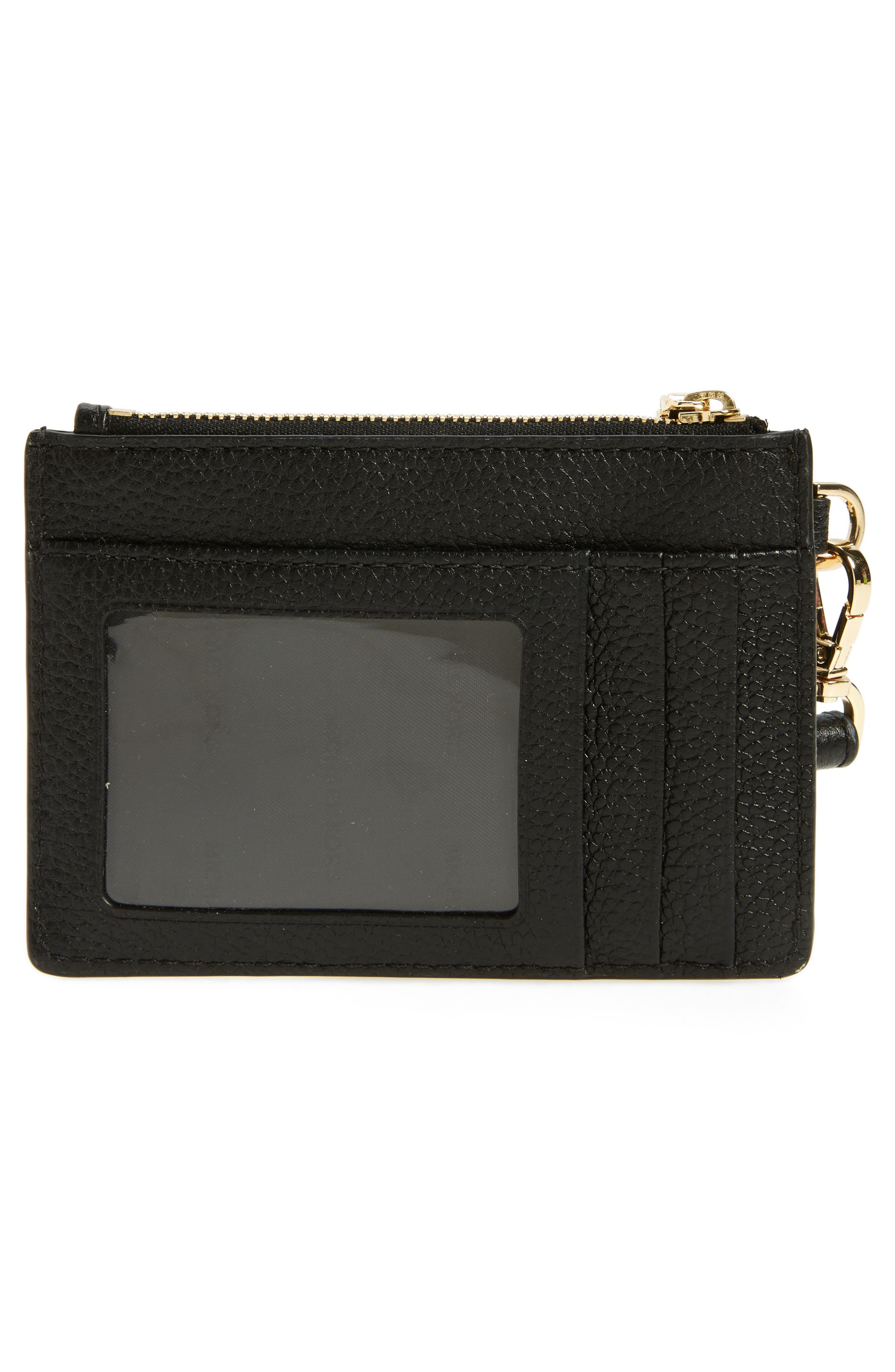 Small Mercer Leather RFID Coin Purse,                             Alternate thumbnail 4, color,                             001