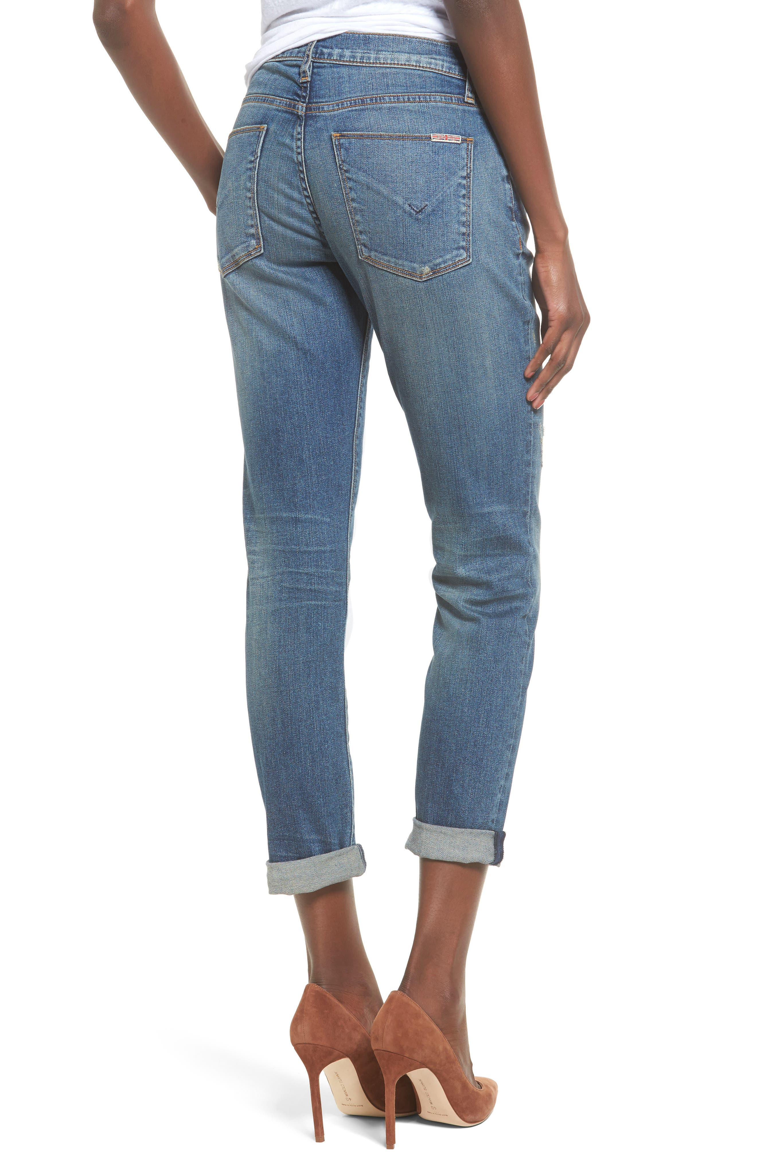 Crop Riley Relaxed Straight Leg Jeans,                             Alternate thumbnail 4, color,