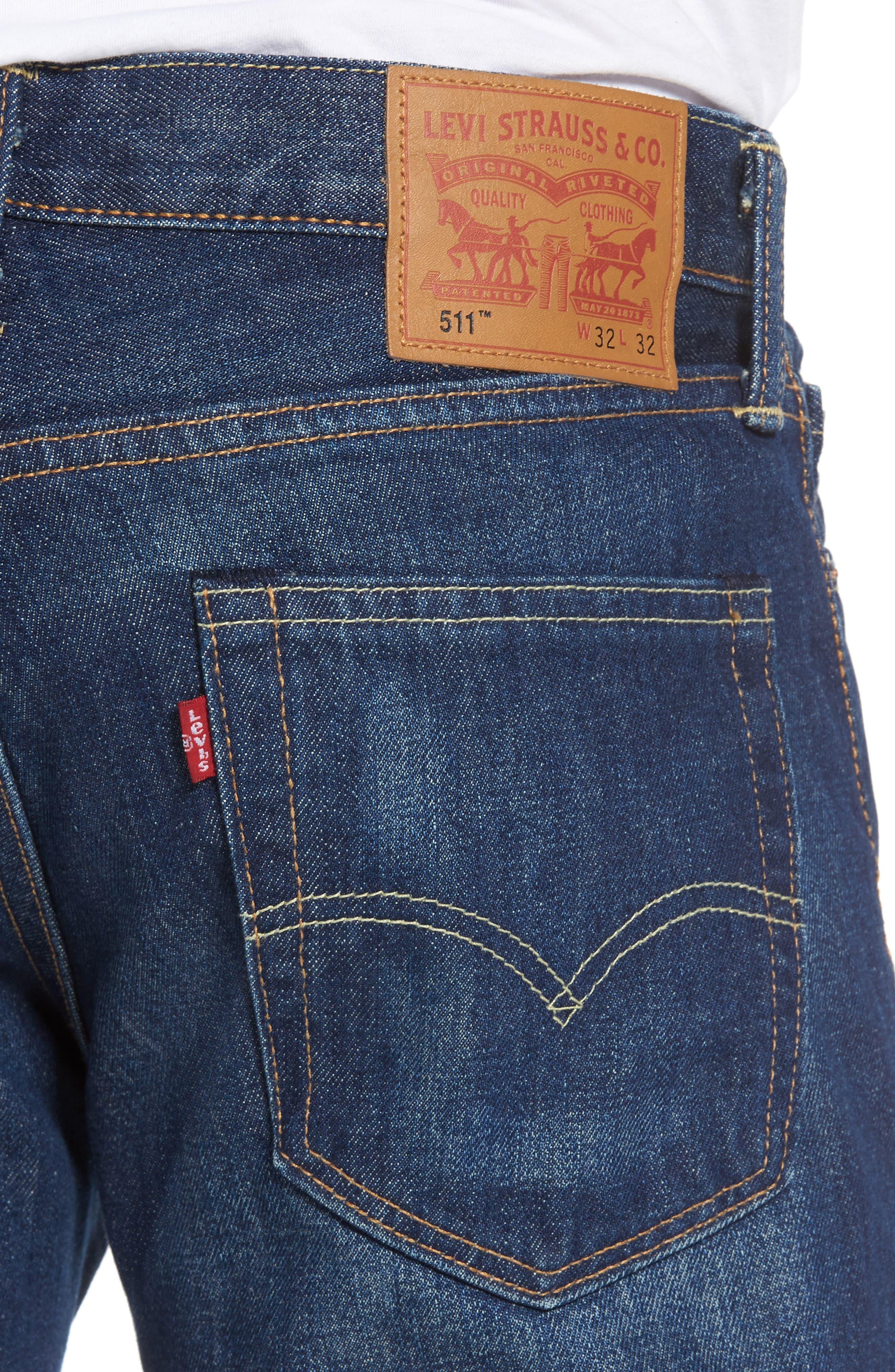 511<sup>™</sup> Slim Fit Jeans,                             Alternate thumbnail 4, color,                             DARK AUTHENTIC