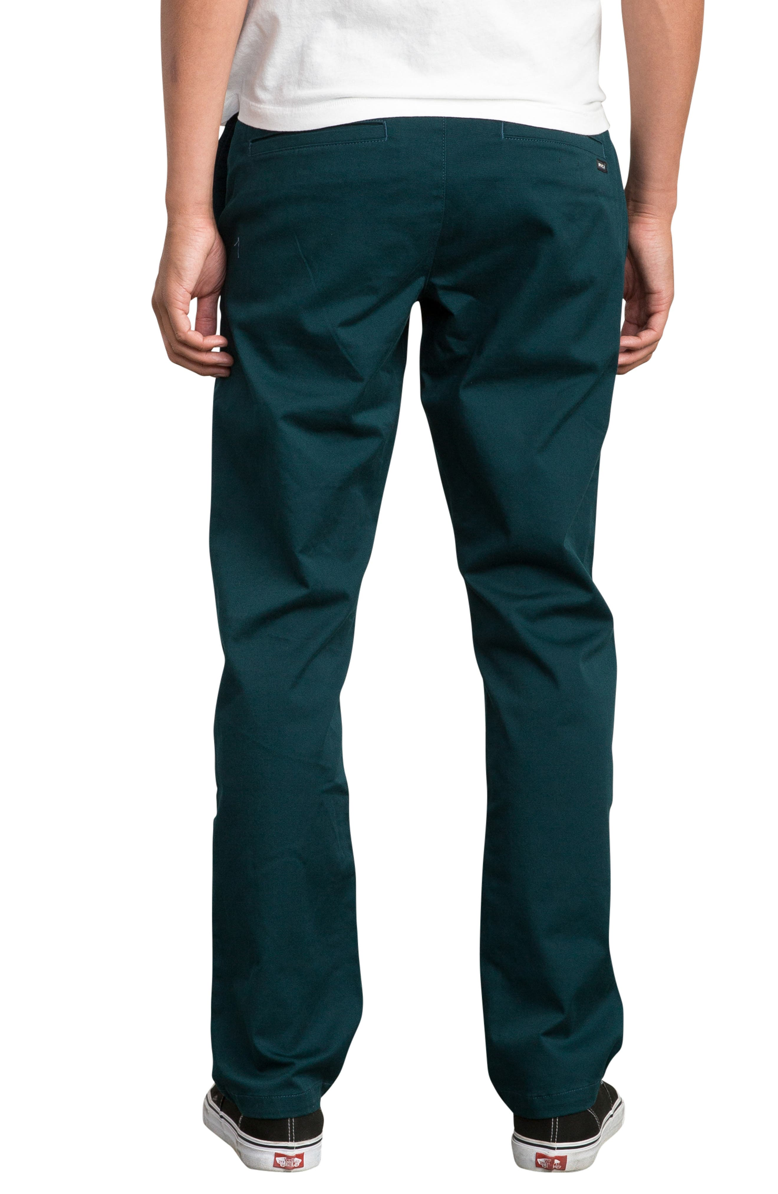 'The Week-End' Slim Straight Leg Stretch Twill Chinos,                             Alternate thumbnail 2, color,                             DARK FOREST