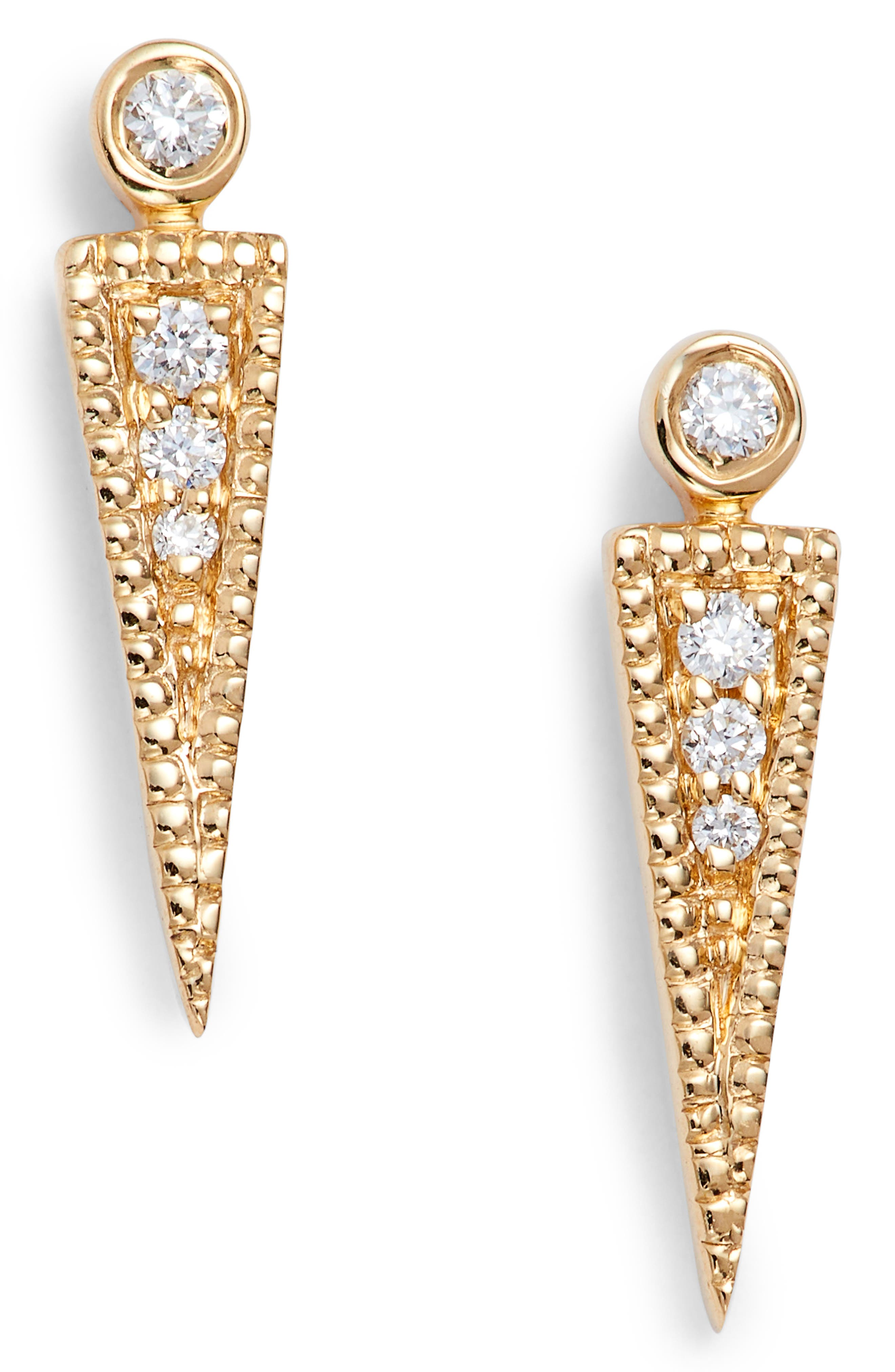 Dana Rebecca Samantha Lynn Diamond Dagger Earrings,                         Main,                         color, YELLOW GOLD