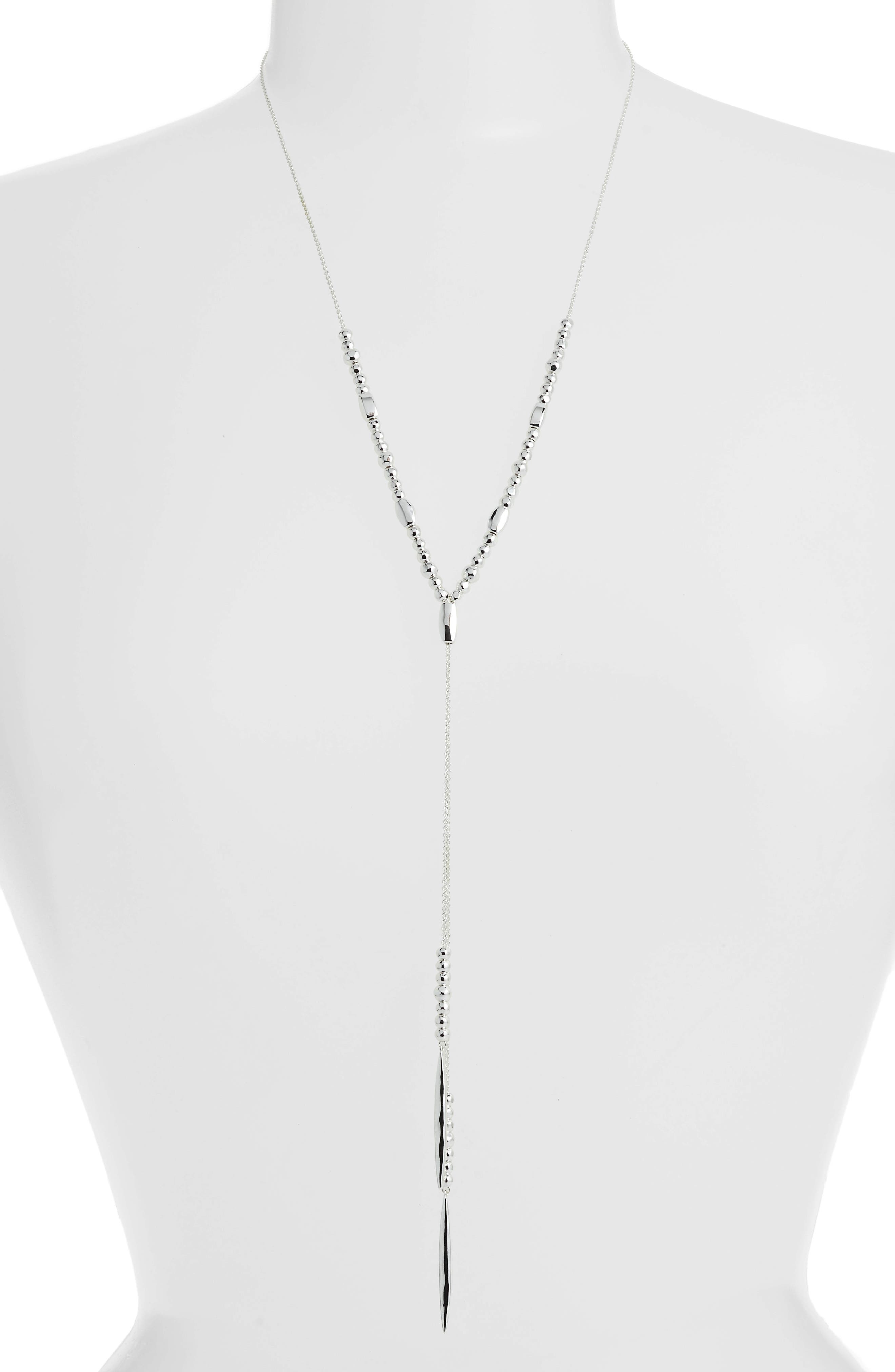 Kellen Slide Necklace,                         Main,                         color, SILVER