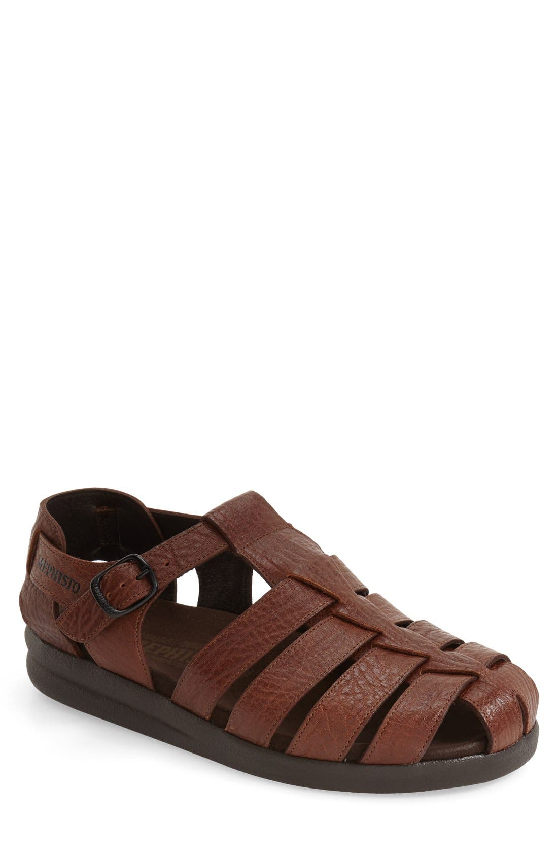 'Sam' Sandal,                             Main thumbnail 1, color,                             TAN