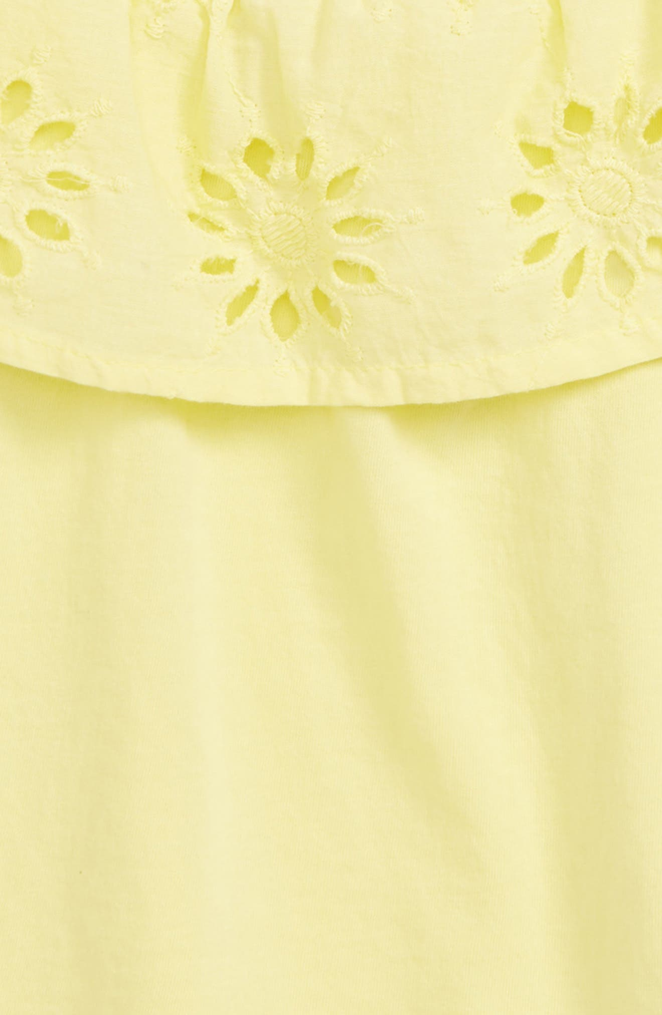 PEEK AREN'T YOU CURIOUS,                             Raelyn Embroidered Top,                             Alternate thumbnail 2, color,                             YELLOW