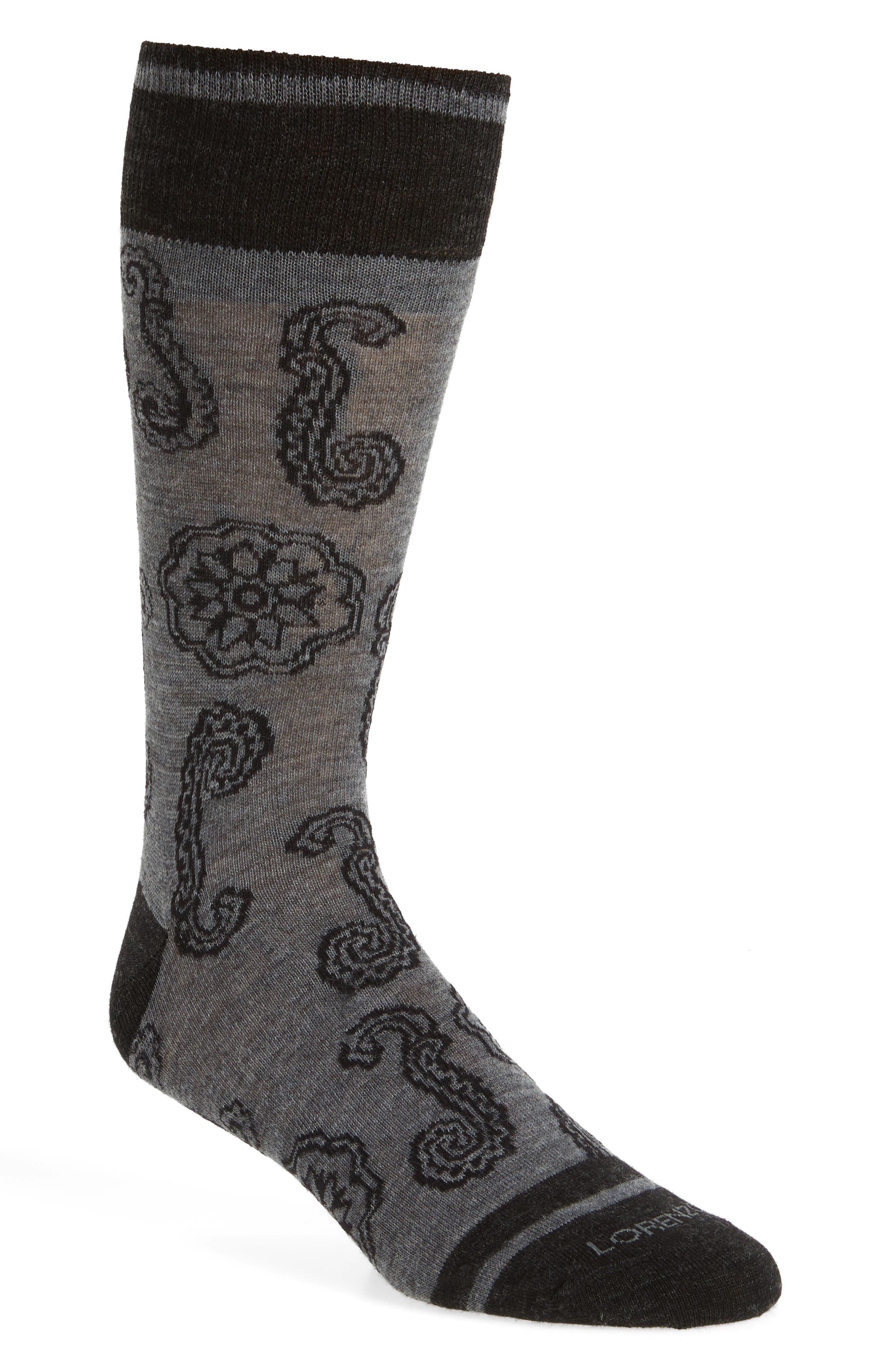 Floral Crew Socks,                         Main,                         color, 020