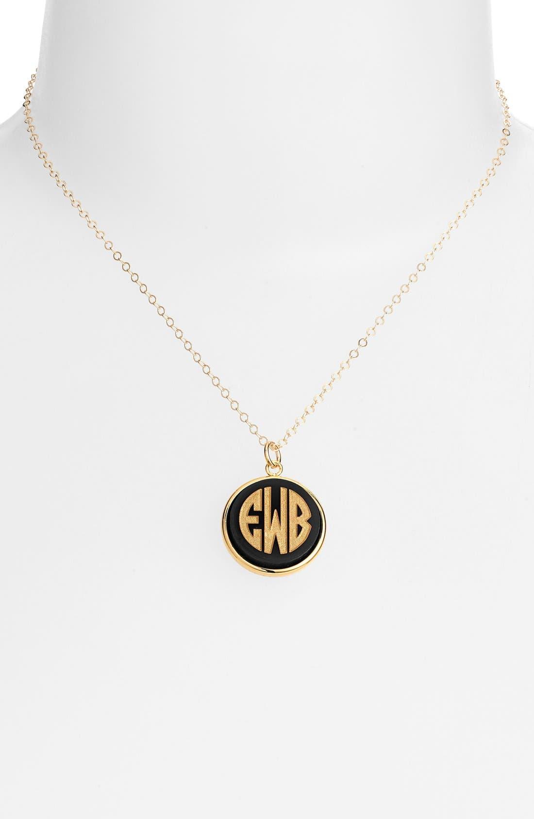 'Vineyard' Personalized Monogram Pendant Necklace,                             Main thumbnail 2, color,