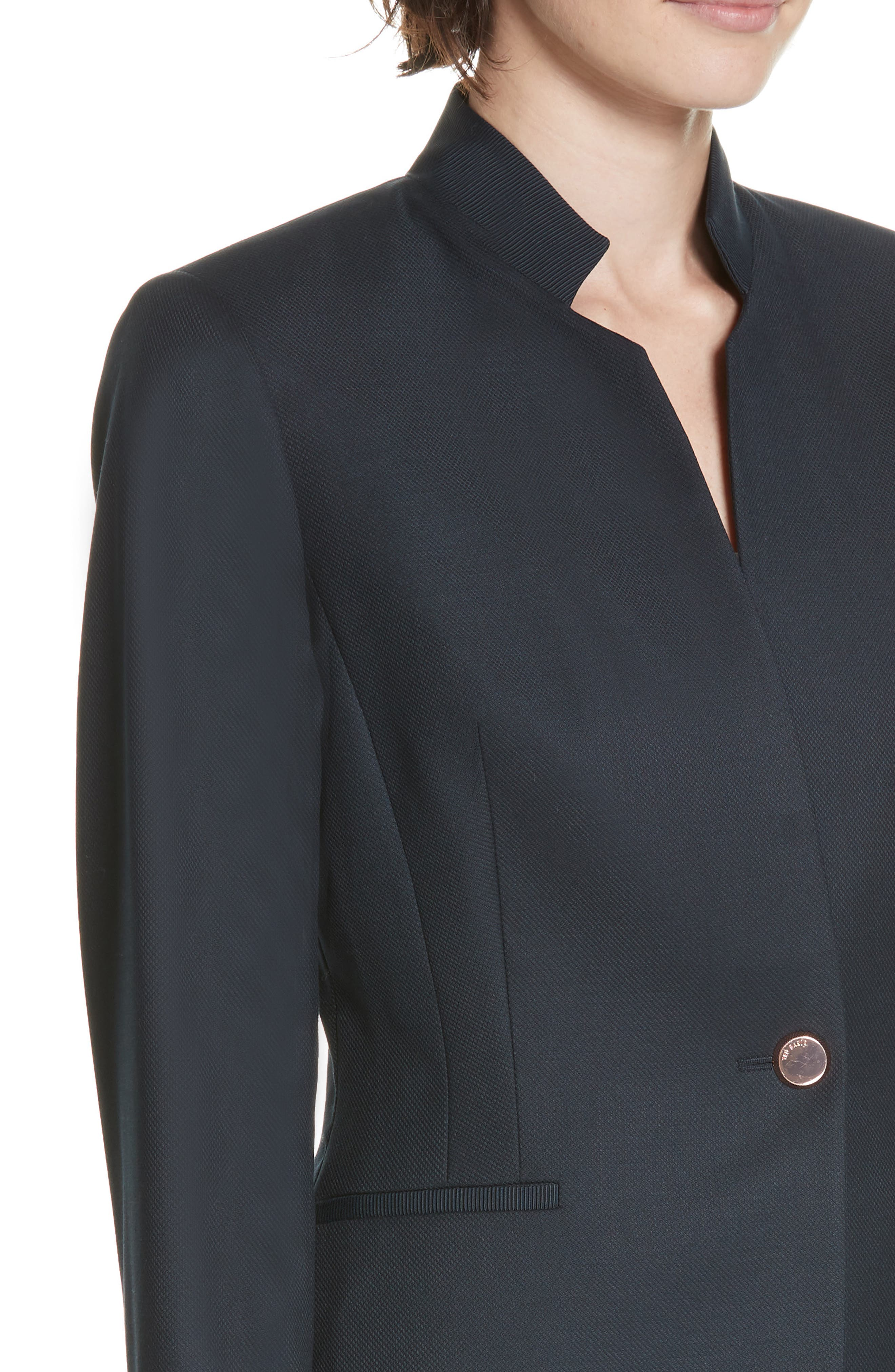 Ted Working Title Rivaa Tailored Jacket,                             Alternate thumbnail 4, color,                             DARK BLUE