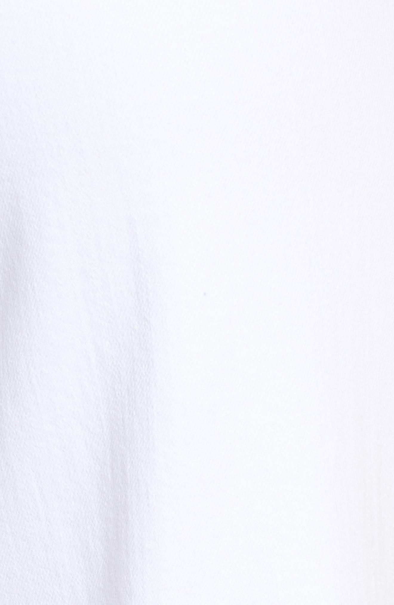 Nellie Clean Front Culotte Jeans,                             Alternate thumbnail 6, color,                             CRISP WHITE