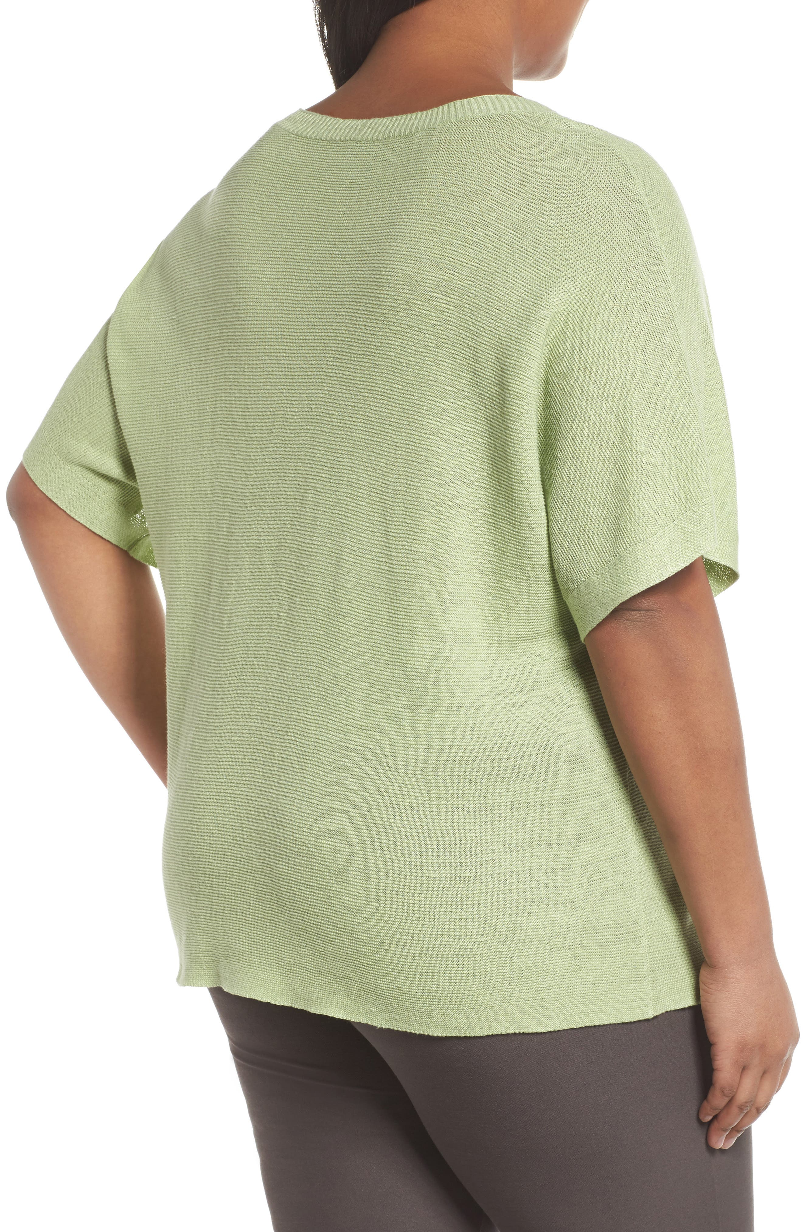 V-Neck Organic Linen Top,                             Alternate thumbnail 10, color,