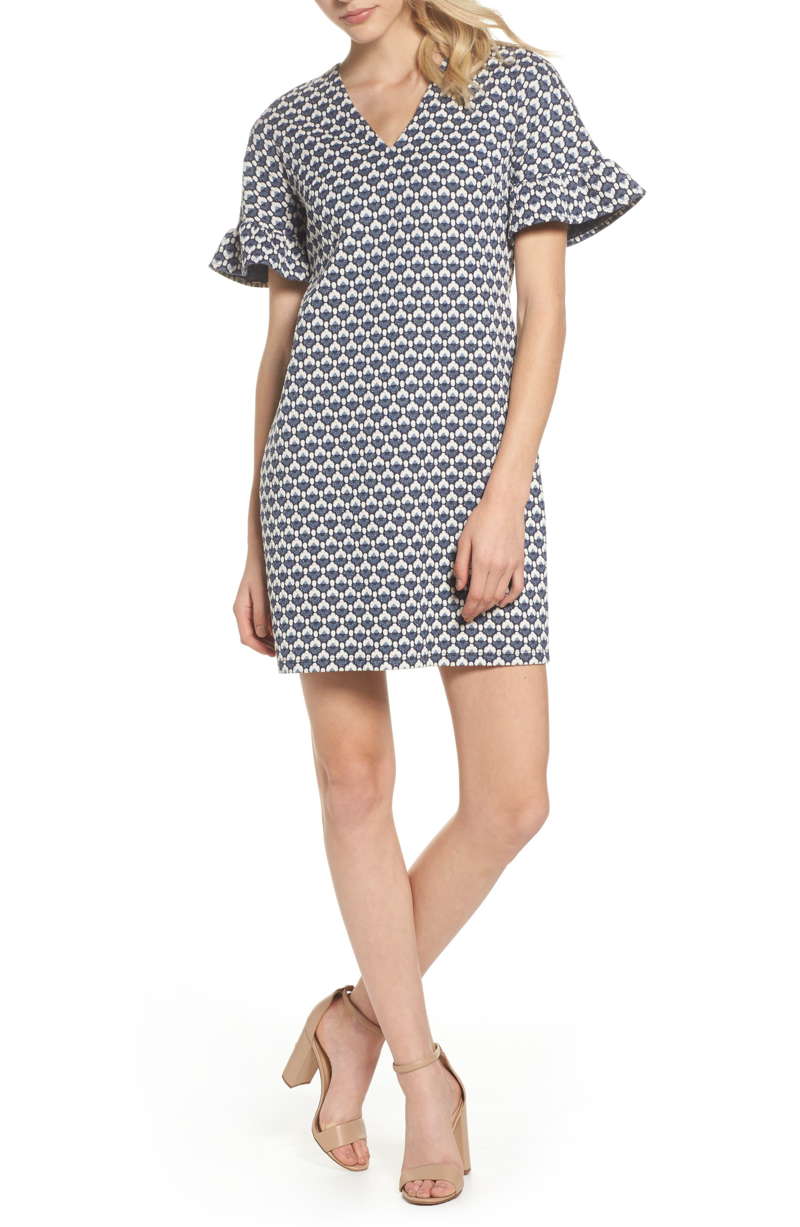 Jacquard Shift Dress,                         Main,                         color, 400