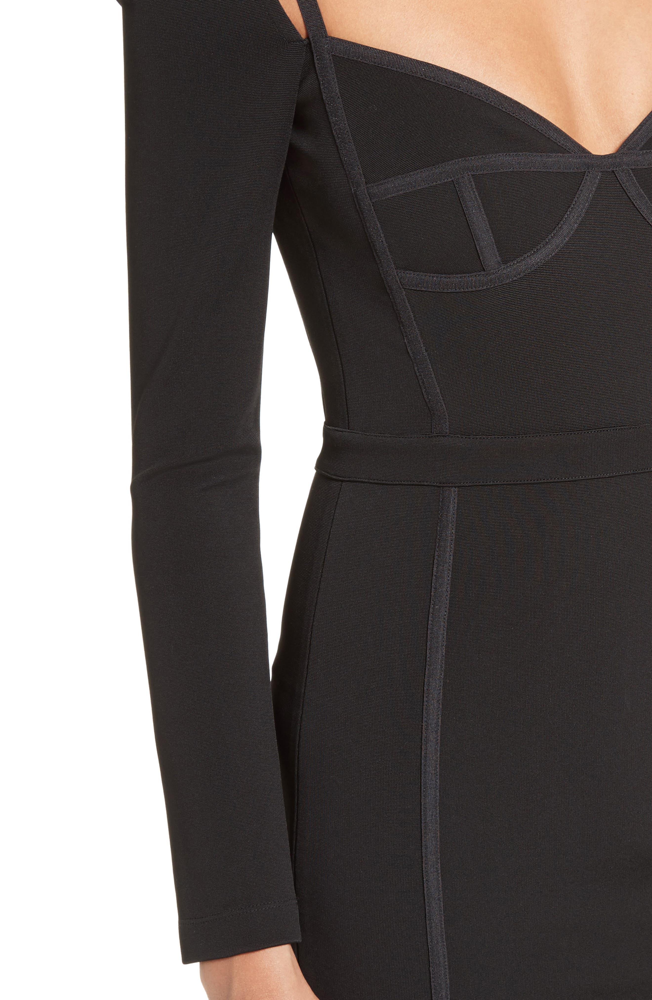 Body-Con Dress,                             Alternate thumbnail 4, color,