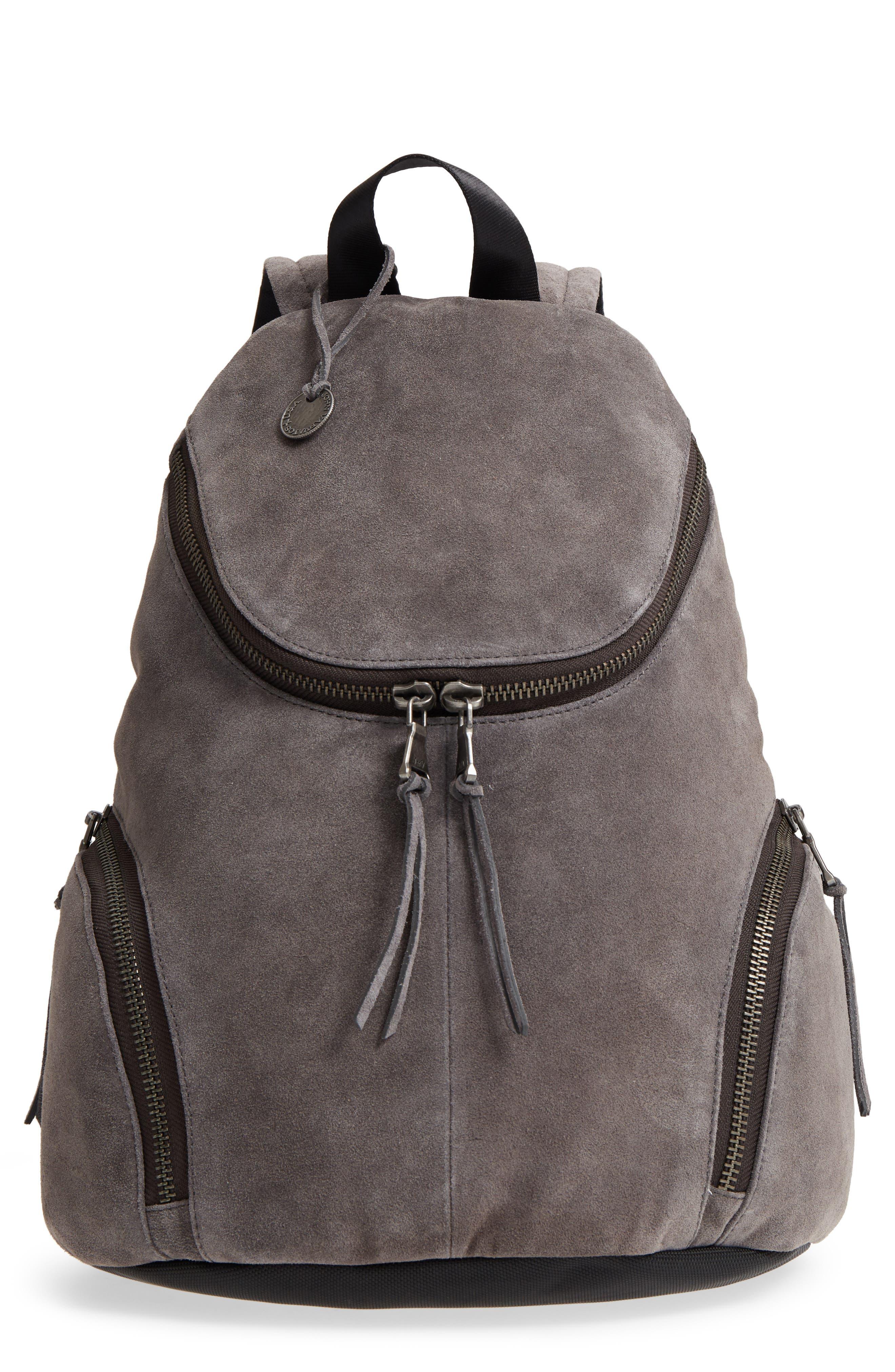 Brooklyn Suede Backpack,                         Main,                         color, LEAD