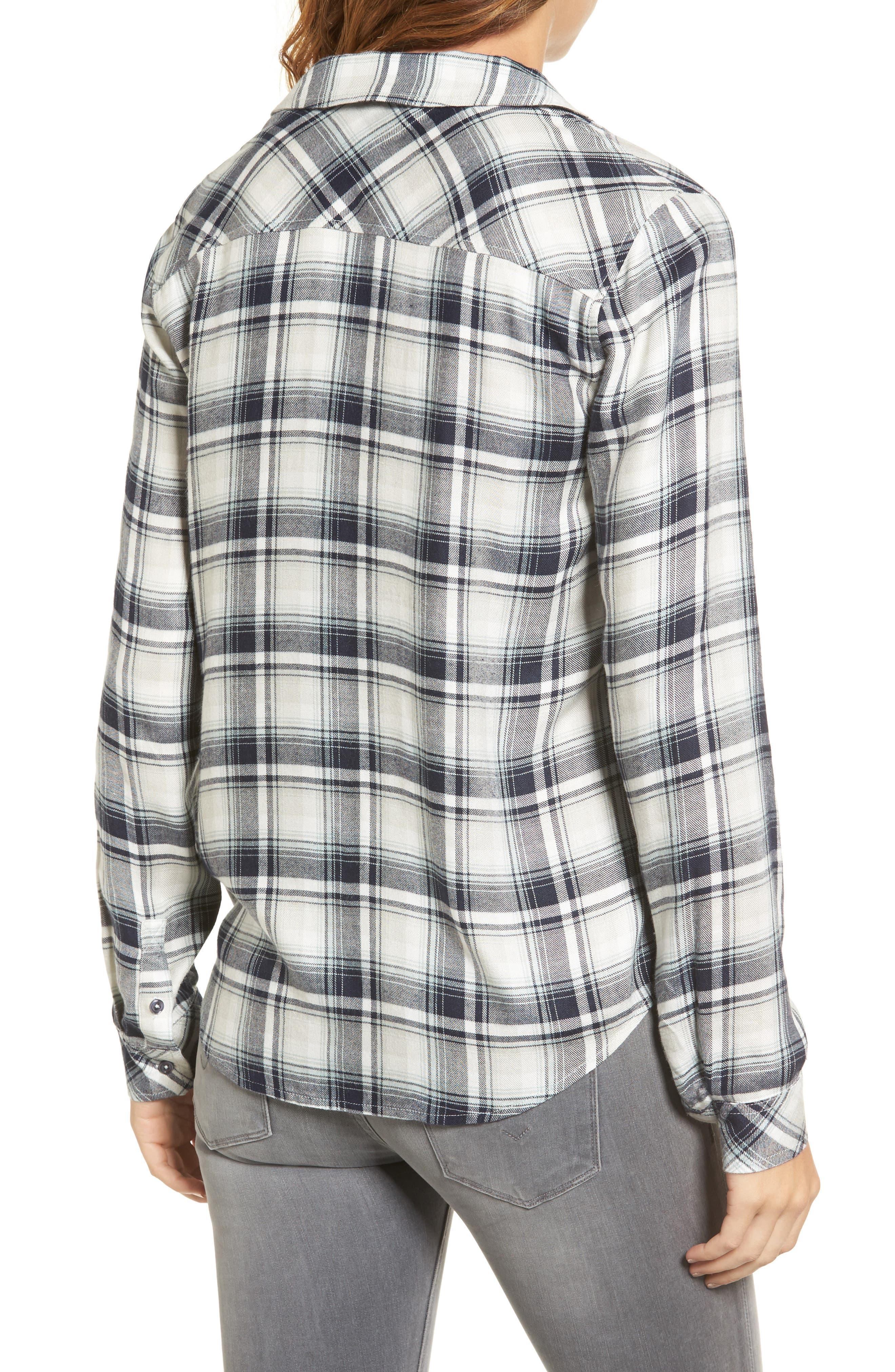 Clea Plaid Shirt,                             Alternate thumbnail 2, color,                             406
