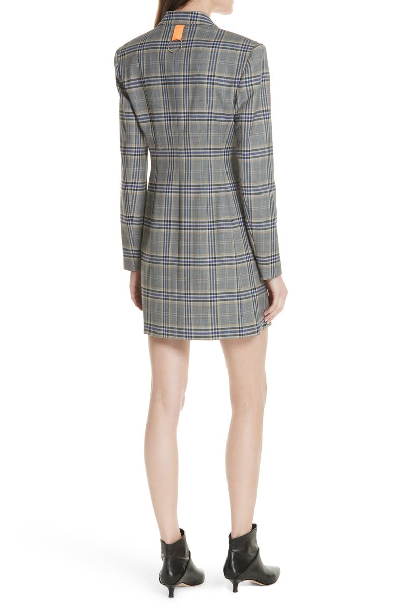 Lucas Suiting Double Breasted Wool Blend Dress,