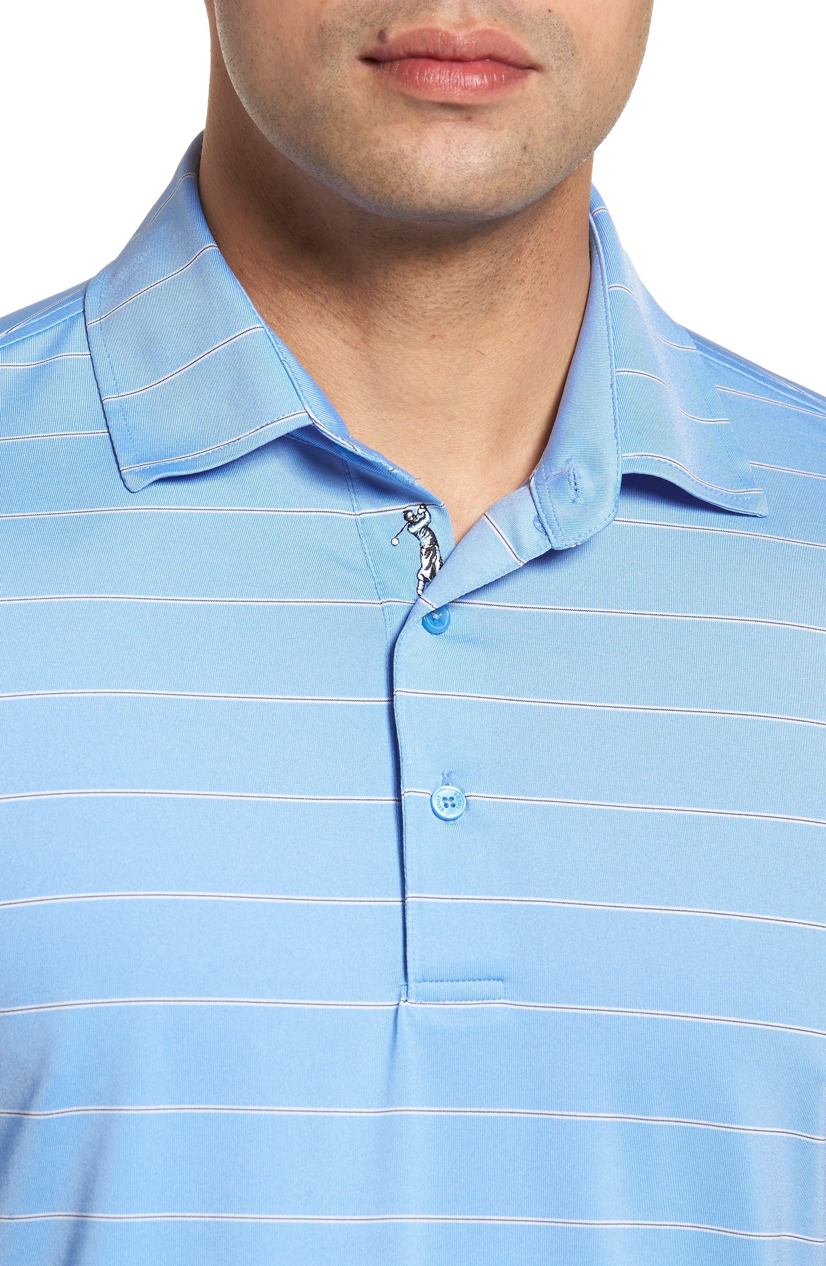 XH2O Momentum Stripe Jersey Polo,                             Alternate thumbnail 4, color,                             459