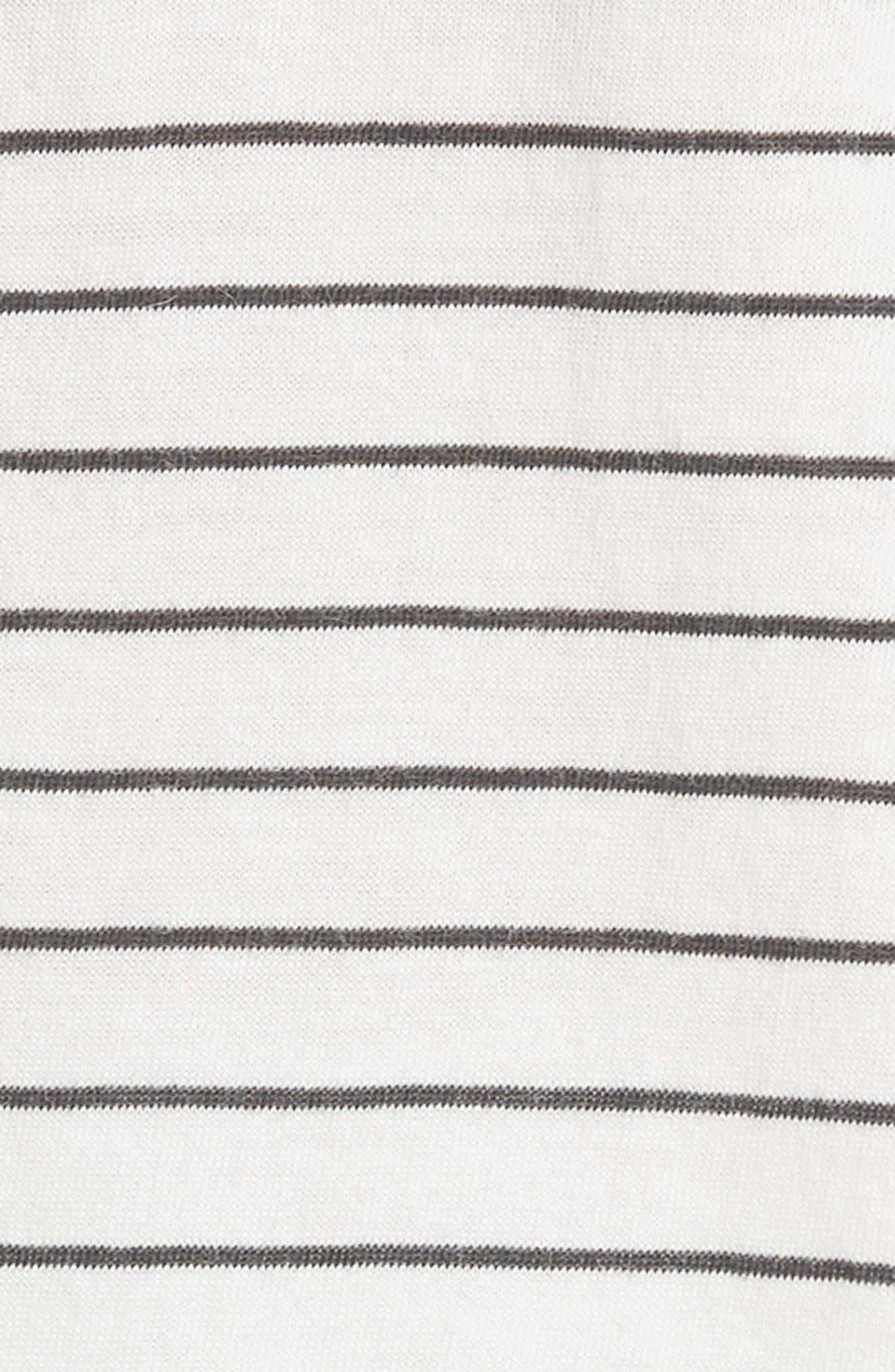 Pencil Stripe Pima Cotton Top,                             Alternate thumbnail 5, color,                             907
