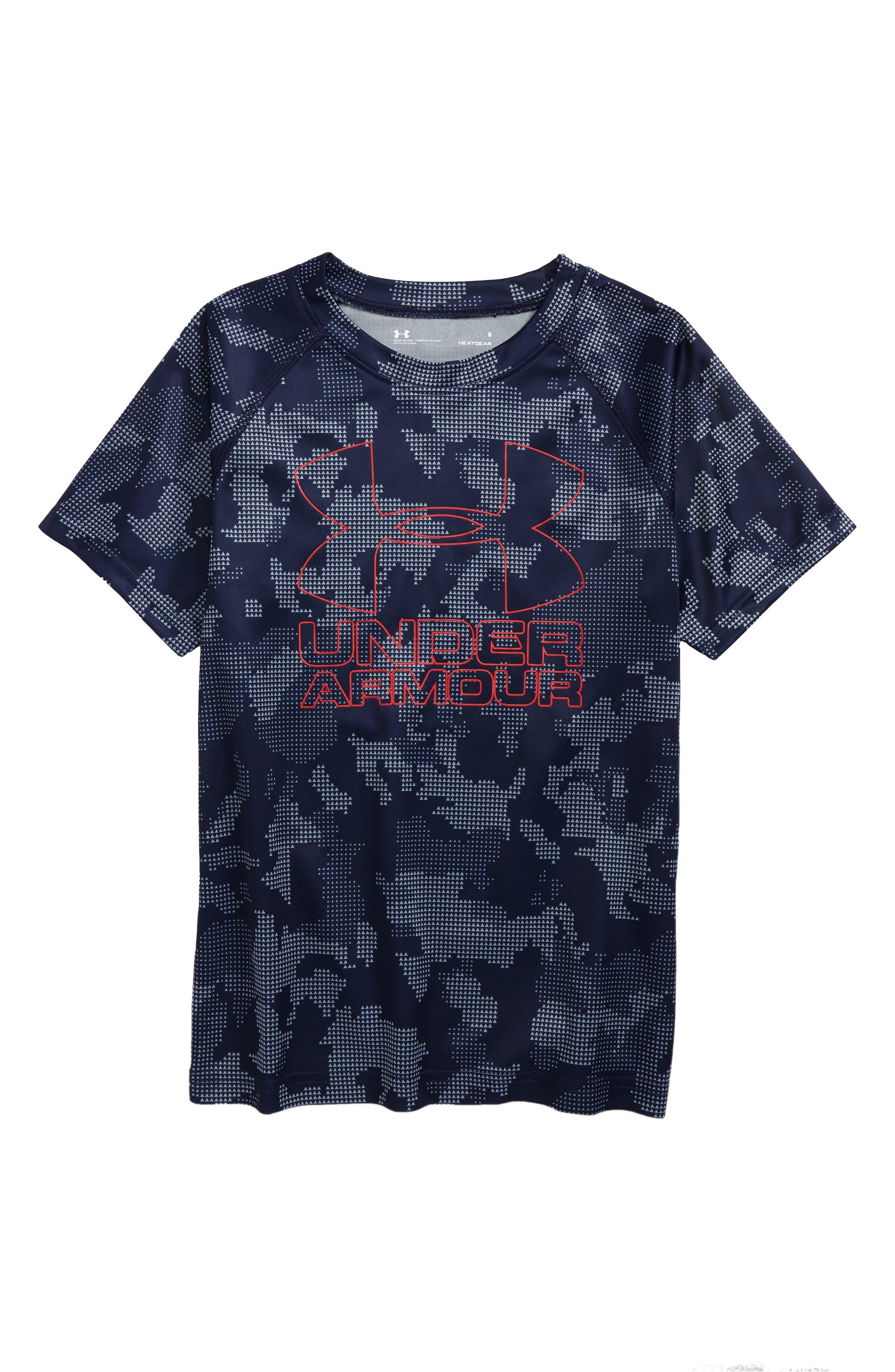 Utility Camo Big Logo Graphic T-Shirt,                             Main thumbnail 1, color,                             420