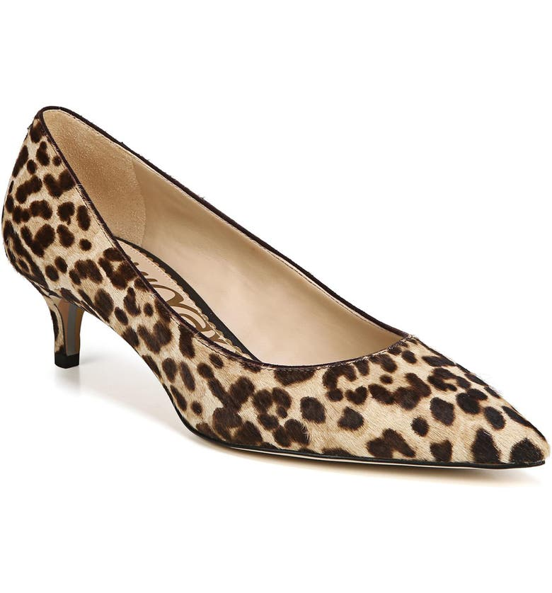 Dori Pump,                         Main,                         color, SAND LEOPARD CALF HAIR