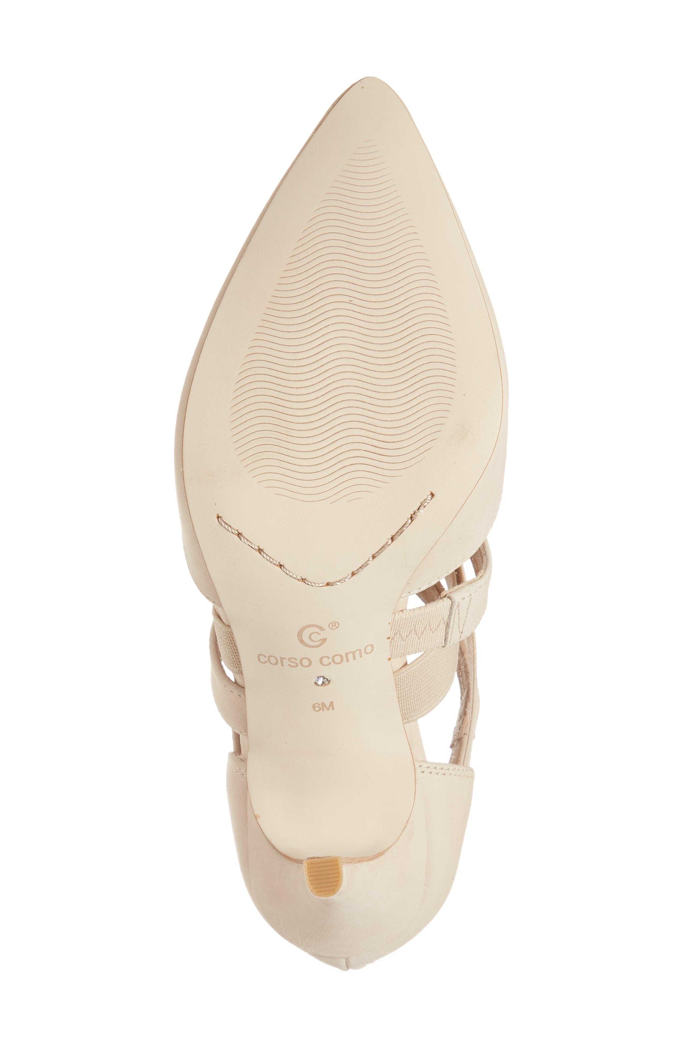 Crystal Strappy Pump,                             Alternate thumbnail 6, color,                             NUDE NUBUCK