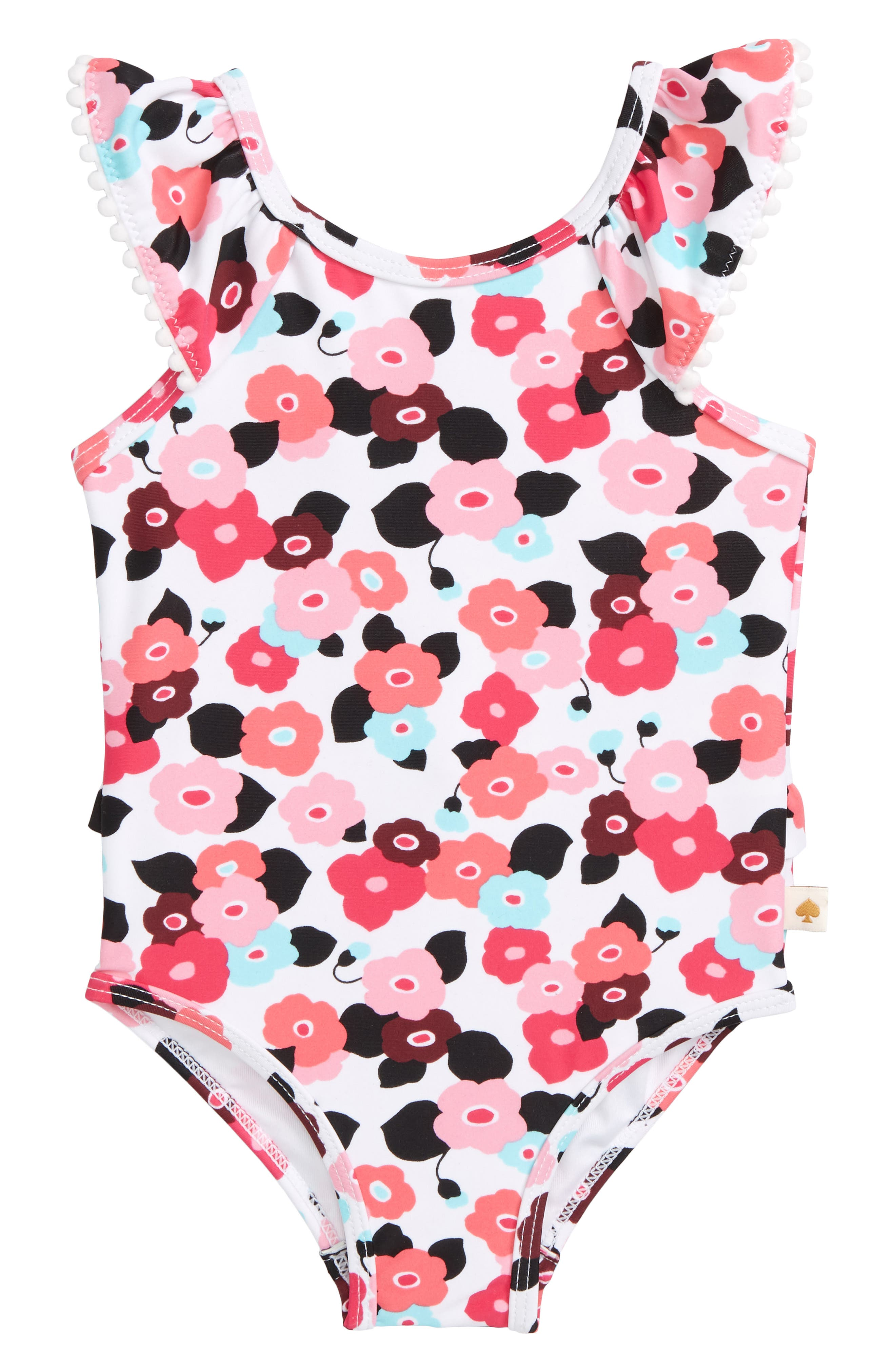 blooming floral one-piece swimsuit,                             Main thumbnail 1, color,                             650