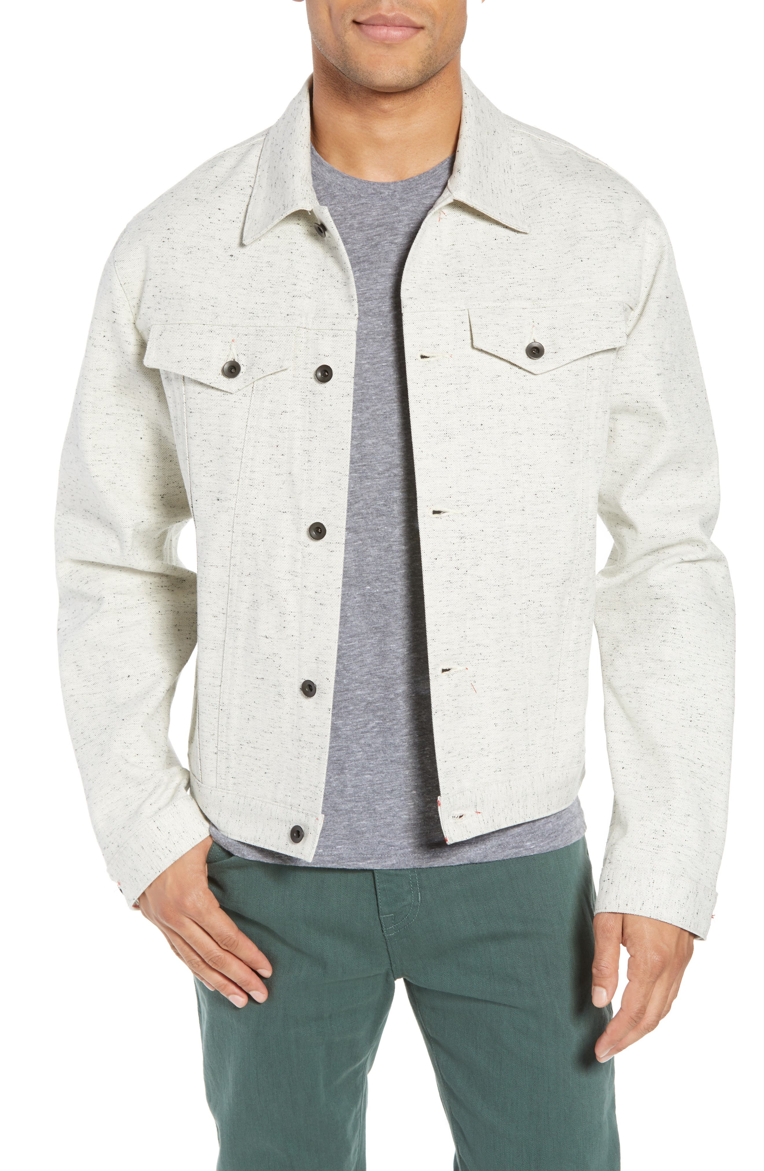 Natural Denim Jacket, Main, color, 123