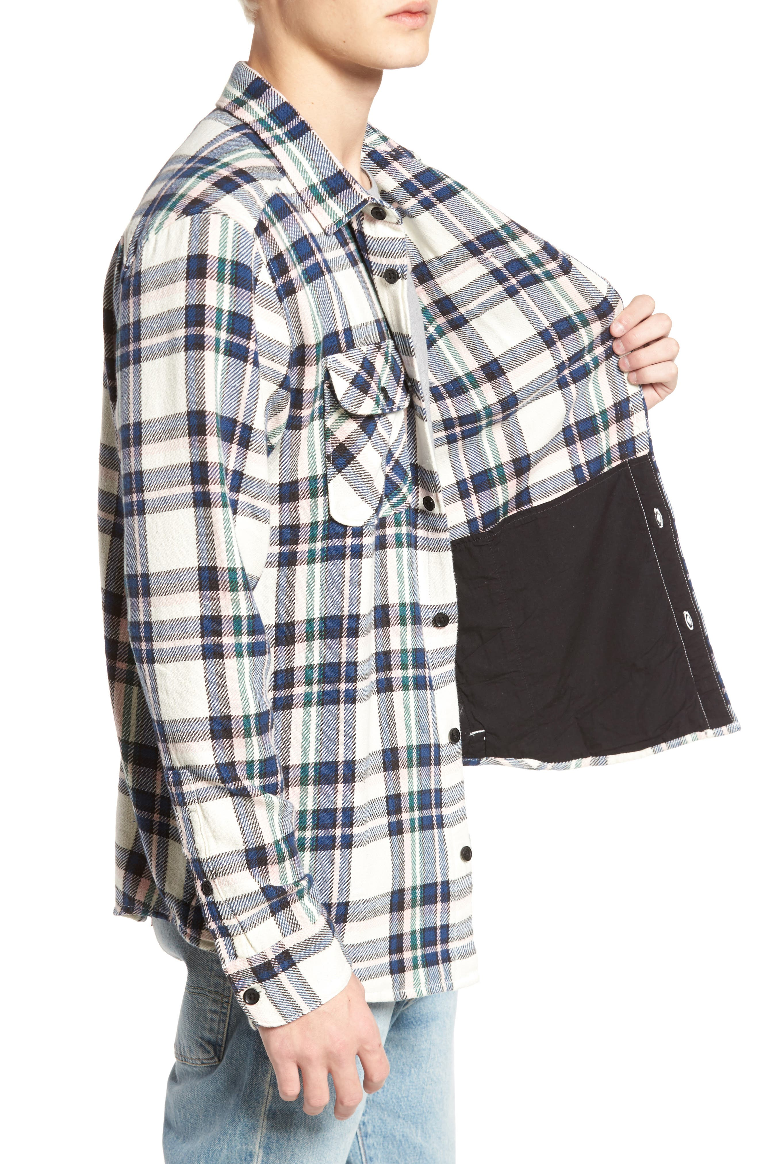 Camino Flannel Shirt,                             Alternate thumbnail 8, color,