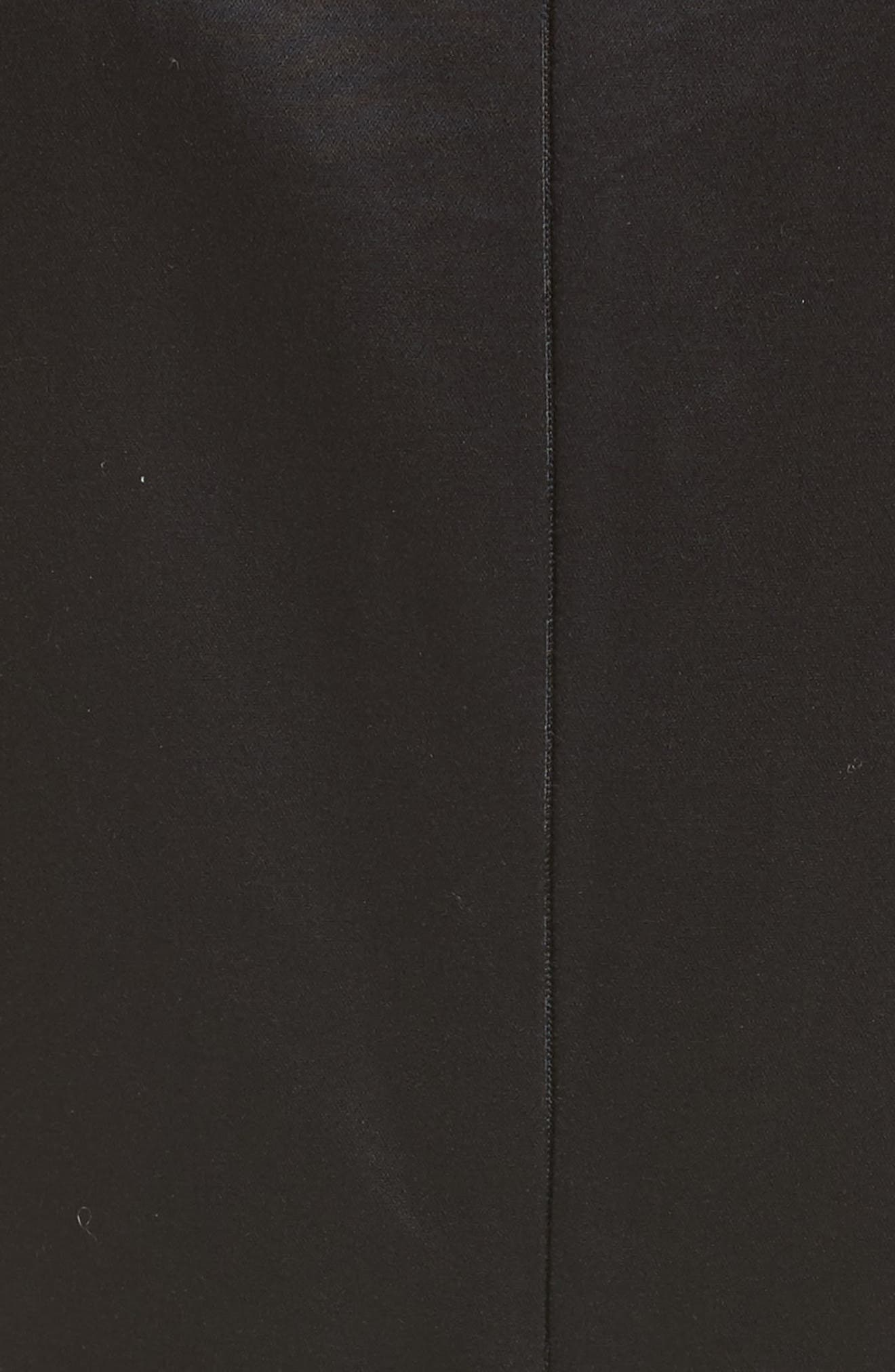 Cotton Sateen A-Line Dress,                             Alternate thumbnail 5, color,                             001
