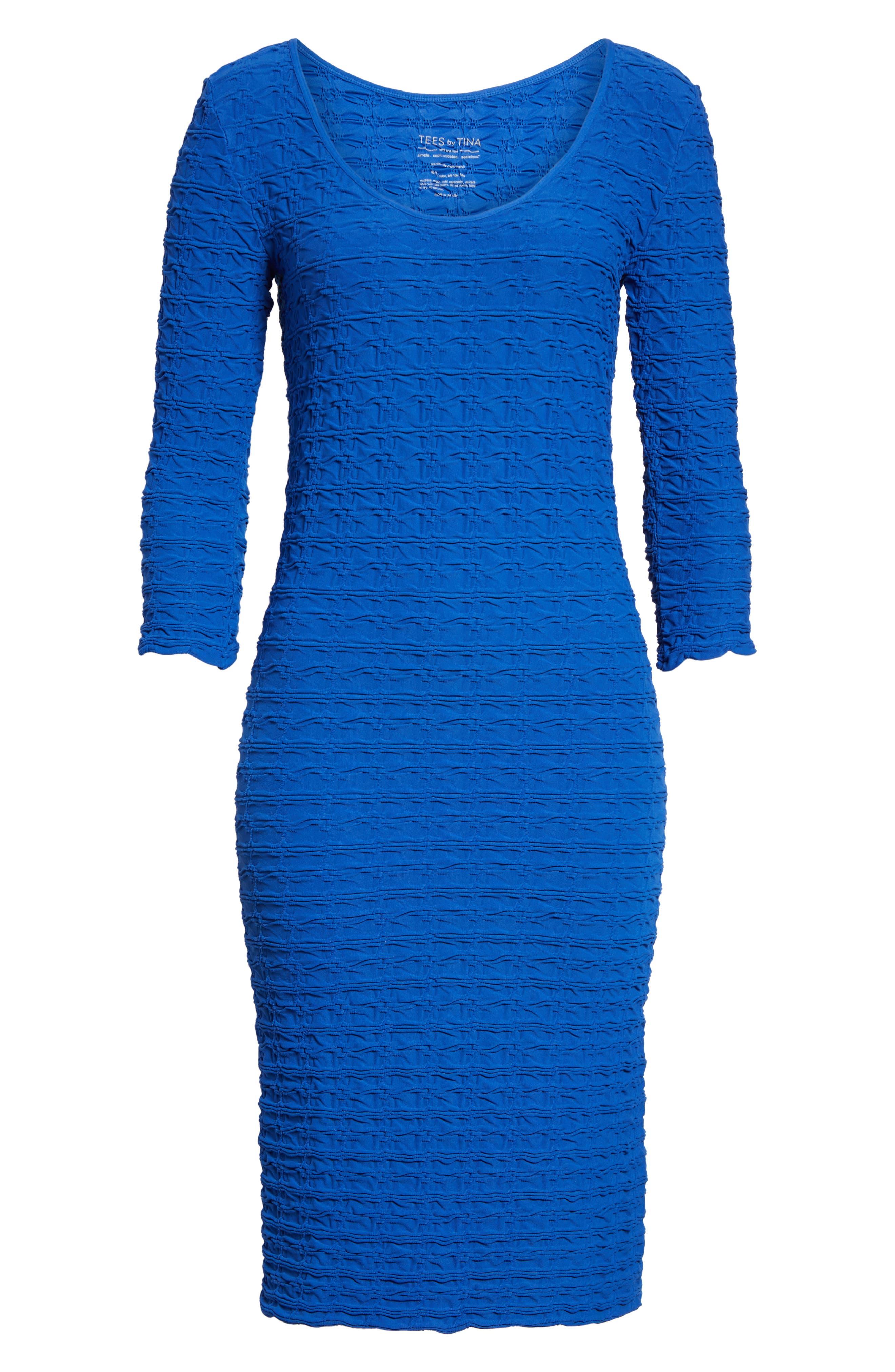 TEES BY TINA,                             Crinkle Maternity Sheath Dress,                             Alternate thumbnail 6, color,                             400