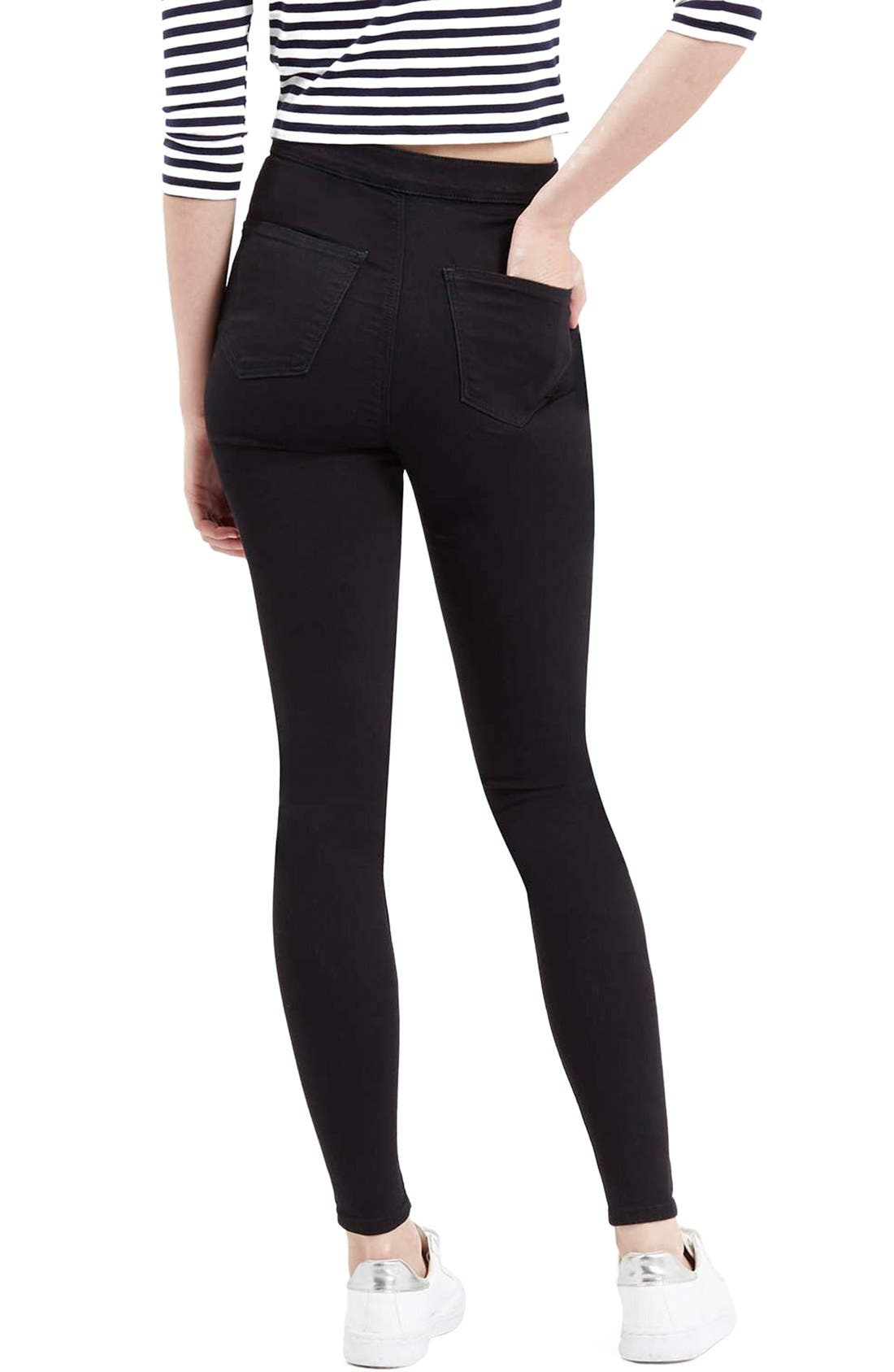 Moto 'Joni' High Rise Skinny Jeans,                             Alternate thumbnail 2, color,                             001