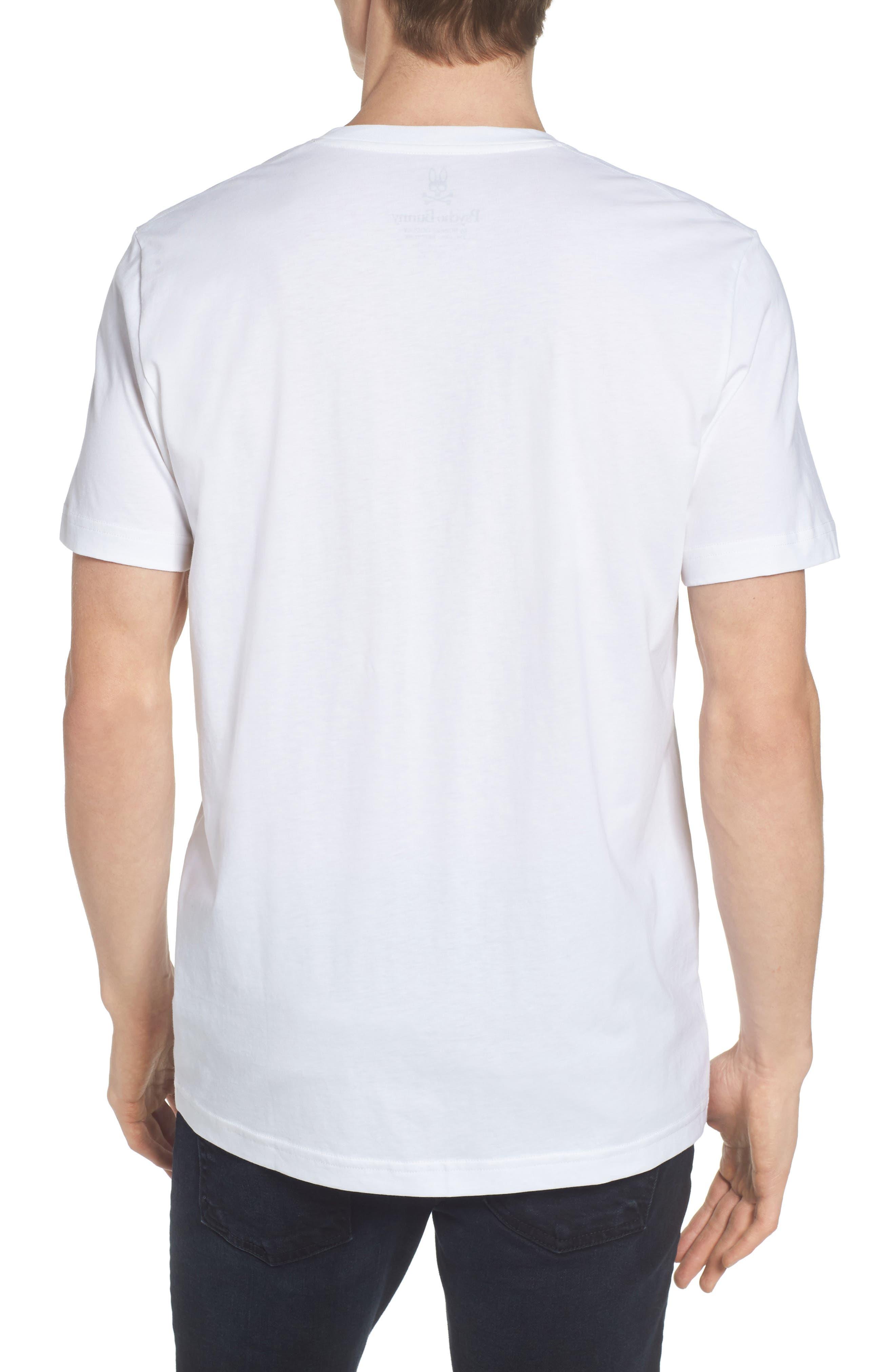 V-Neck T-Shirt,                             Alternate thumbnail 2, color,                             WHITE