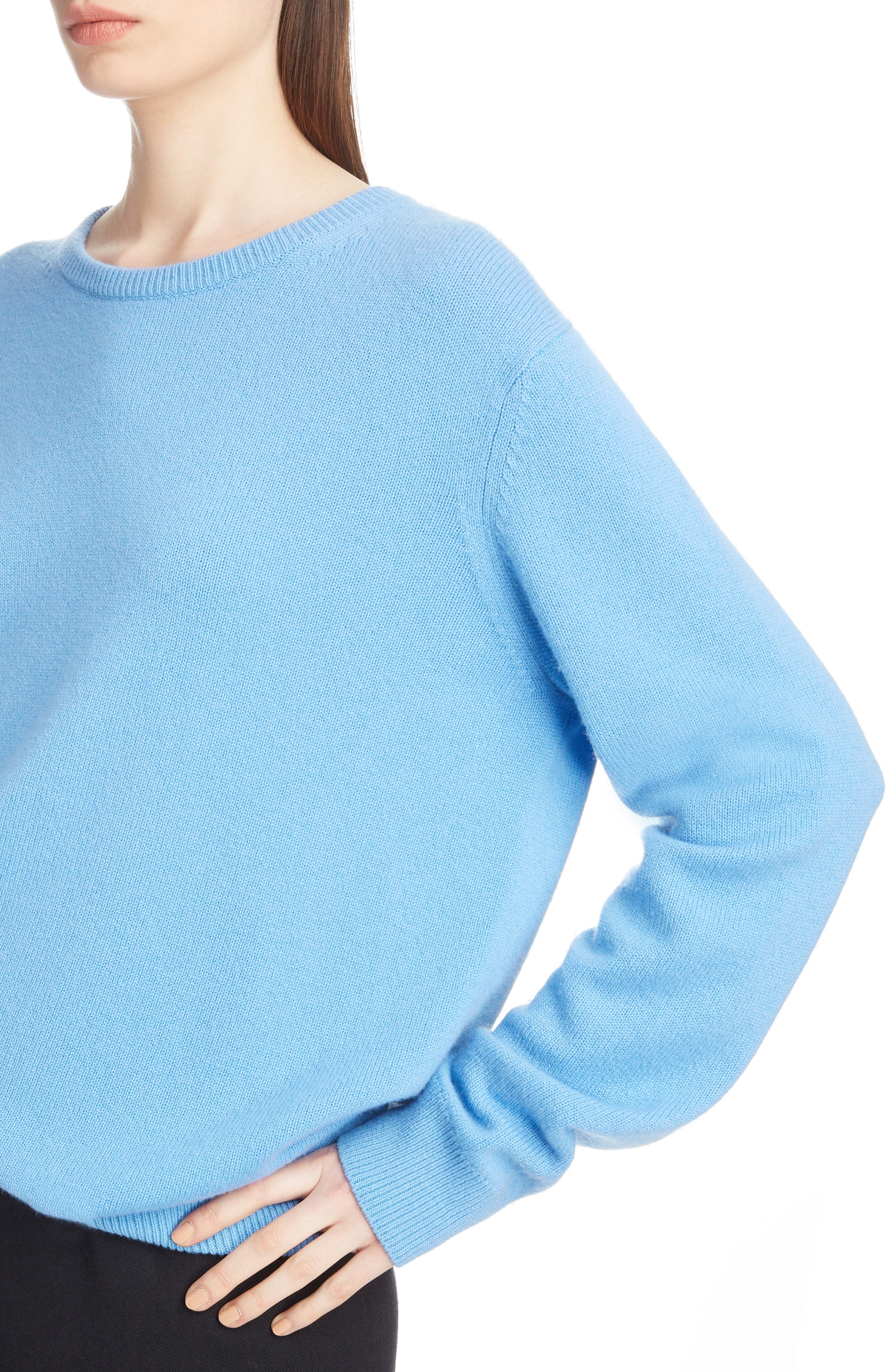Relaxed Cashmere Sweater,                             Alternate thumbnail 4, color,                             400