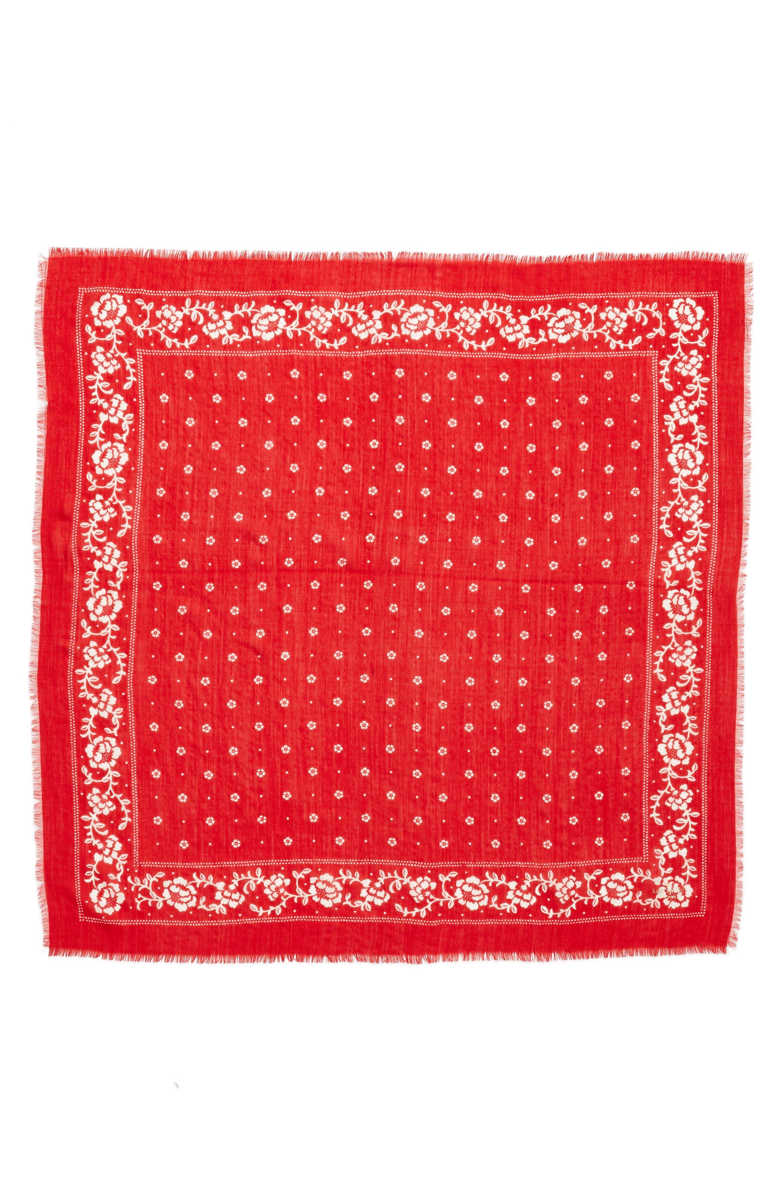 wool bandana,                             Alternate thumbnail 3, color,                             LINGONBERRY