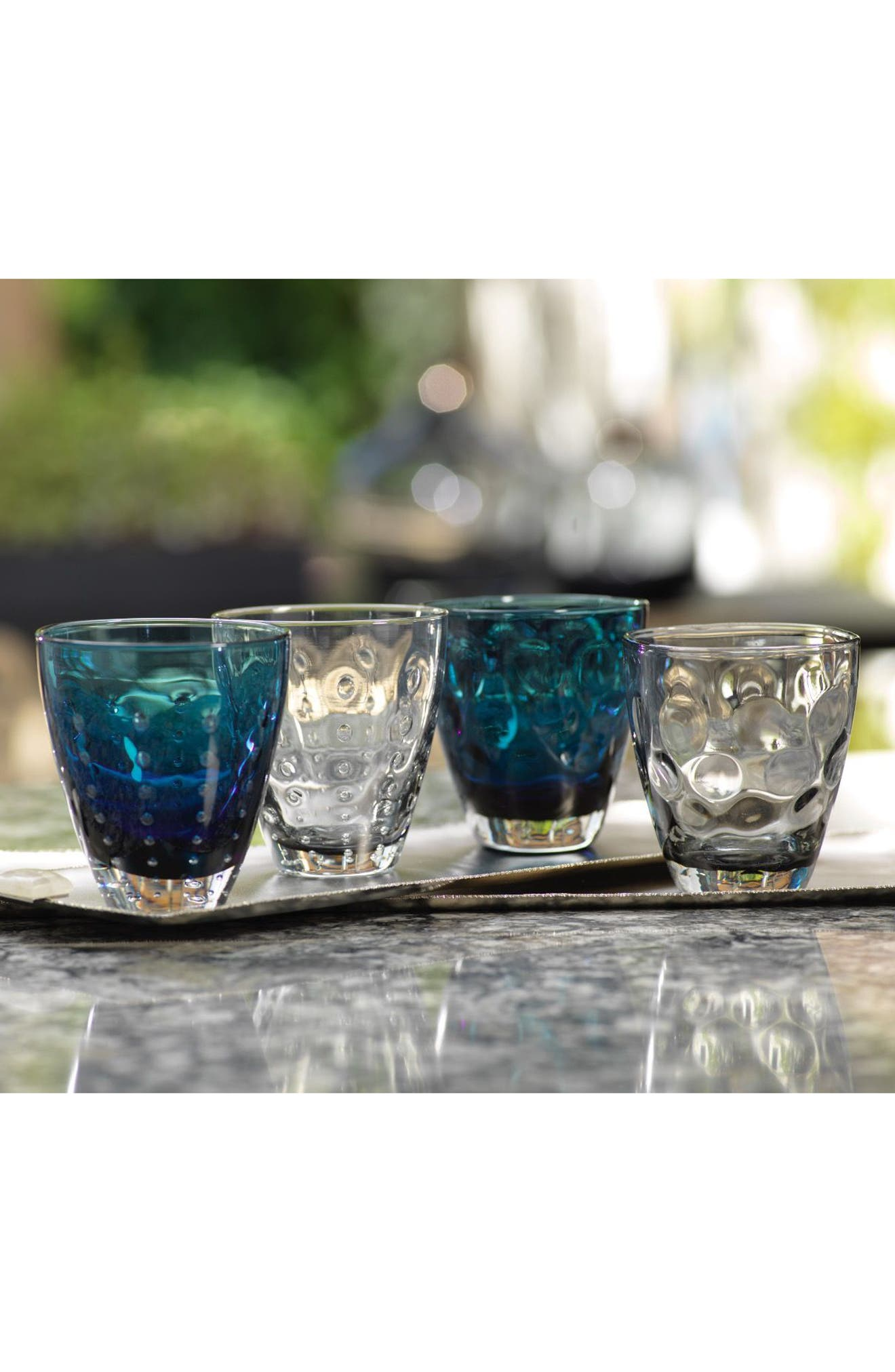 Bubbled Set of 6 Double Old Fashioned Glasses,                             Alternate thumbnail 2, color,                             100