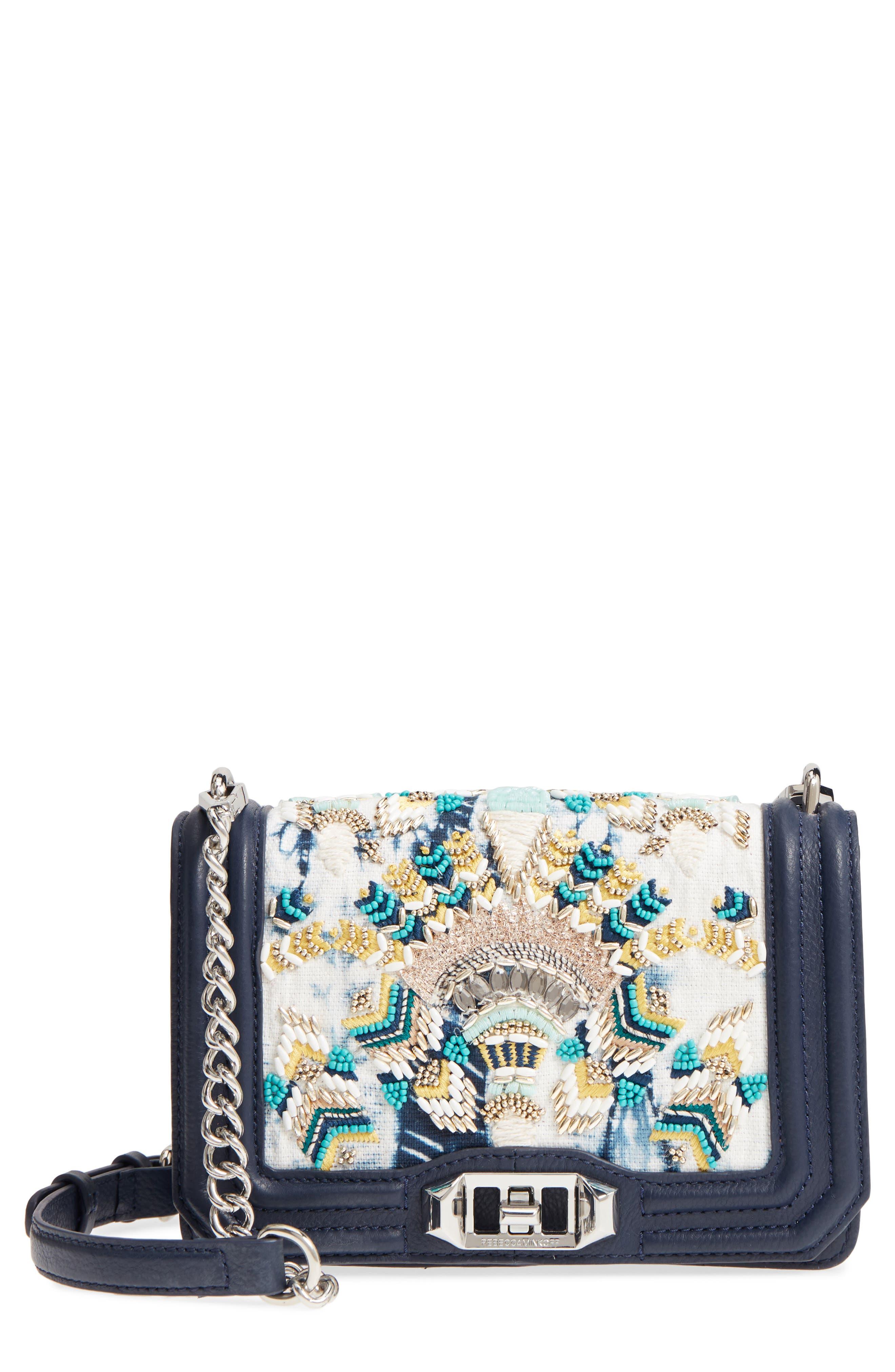Small Embellished Love Crossbody Bag,                             Main thumbnail 1, color,