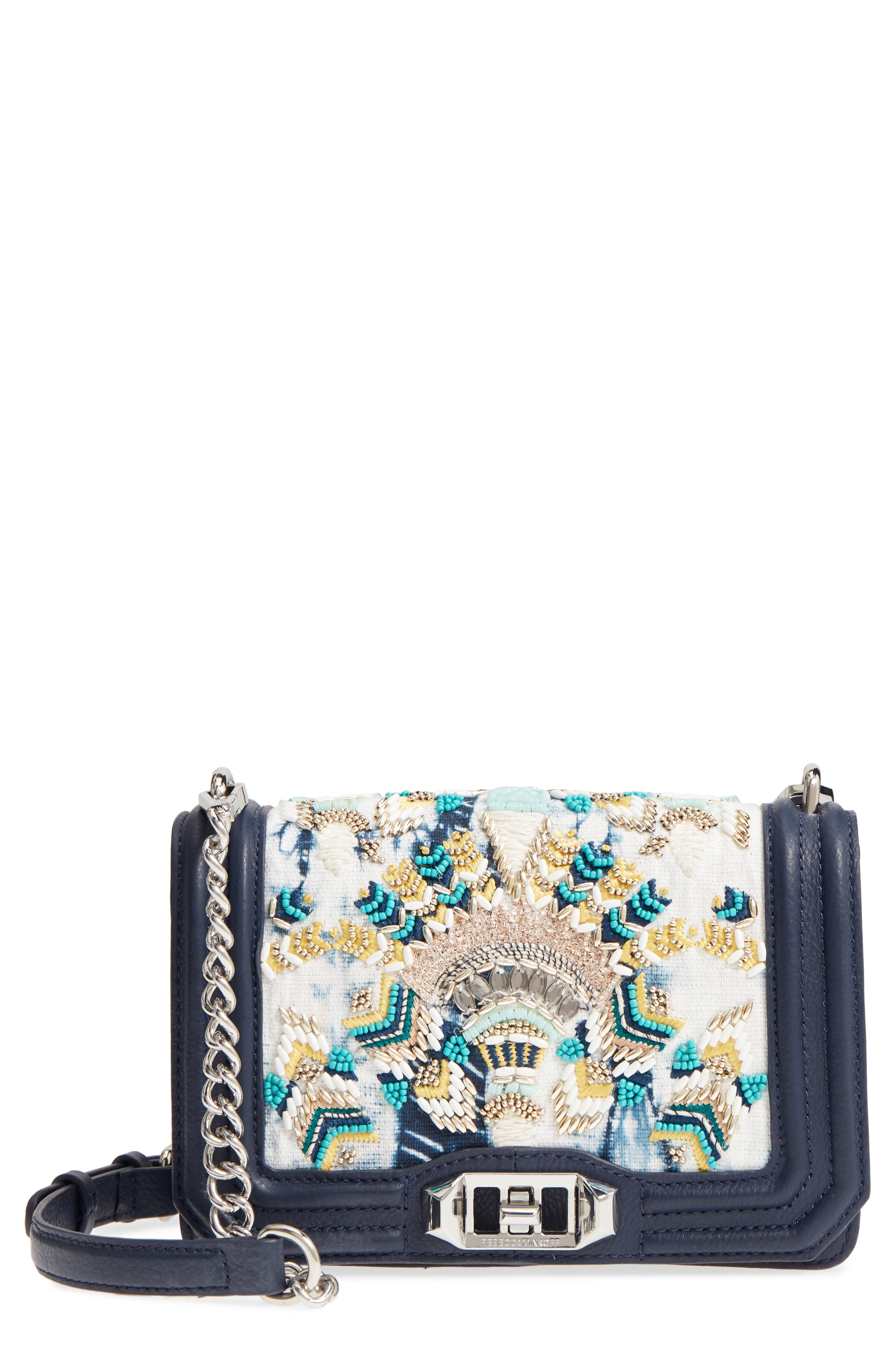 Small Embellished Love Crossbody Bag,                         Main,                         color,