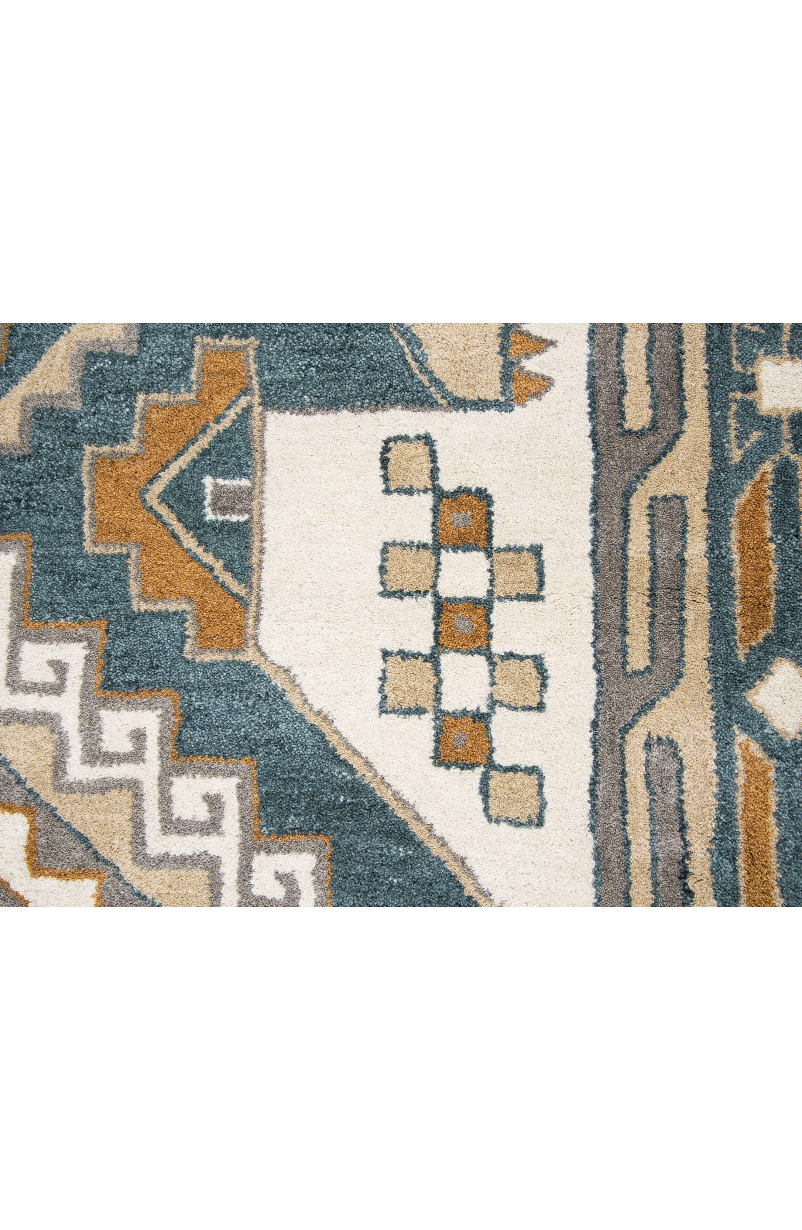 Urban Tiles Hand Tufted Wool Rug,                             Alternate thumbnail 4, color,                             220