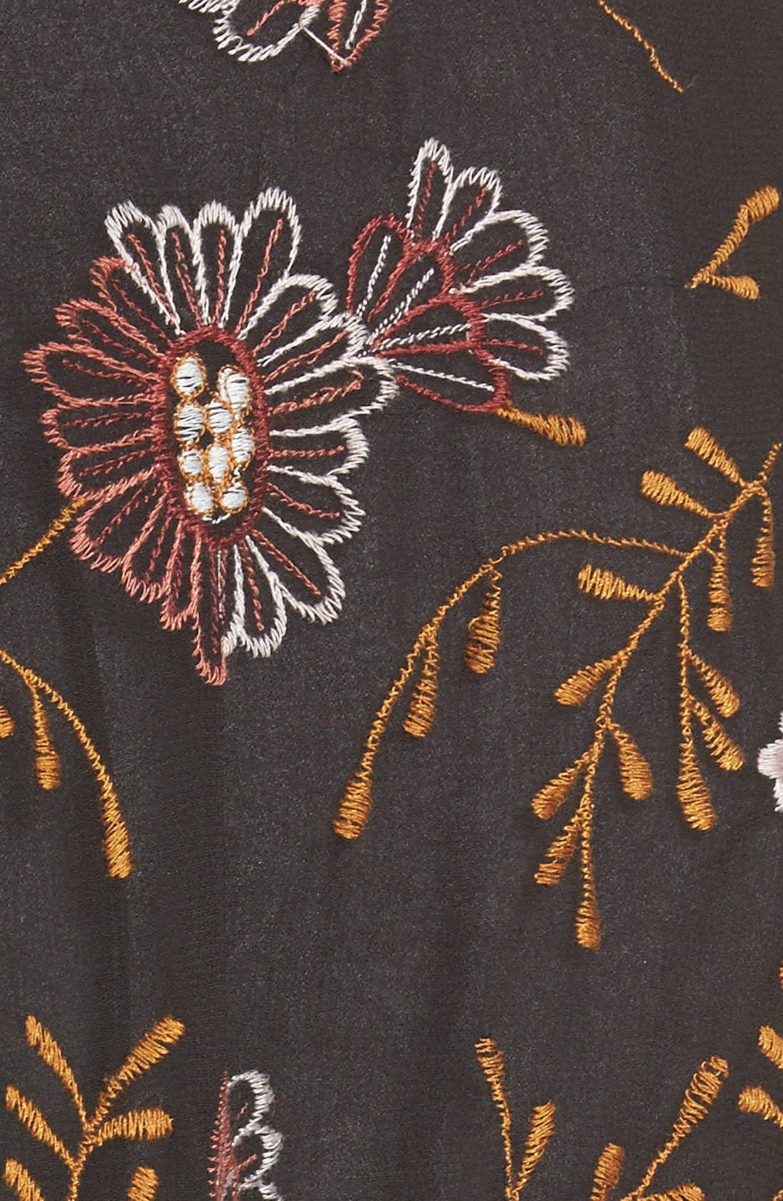 WILLOW & CLAY,                             Embroidered Kimono,                             Alternate thumbnail 5, color,                             001