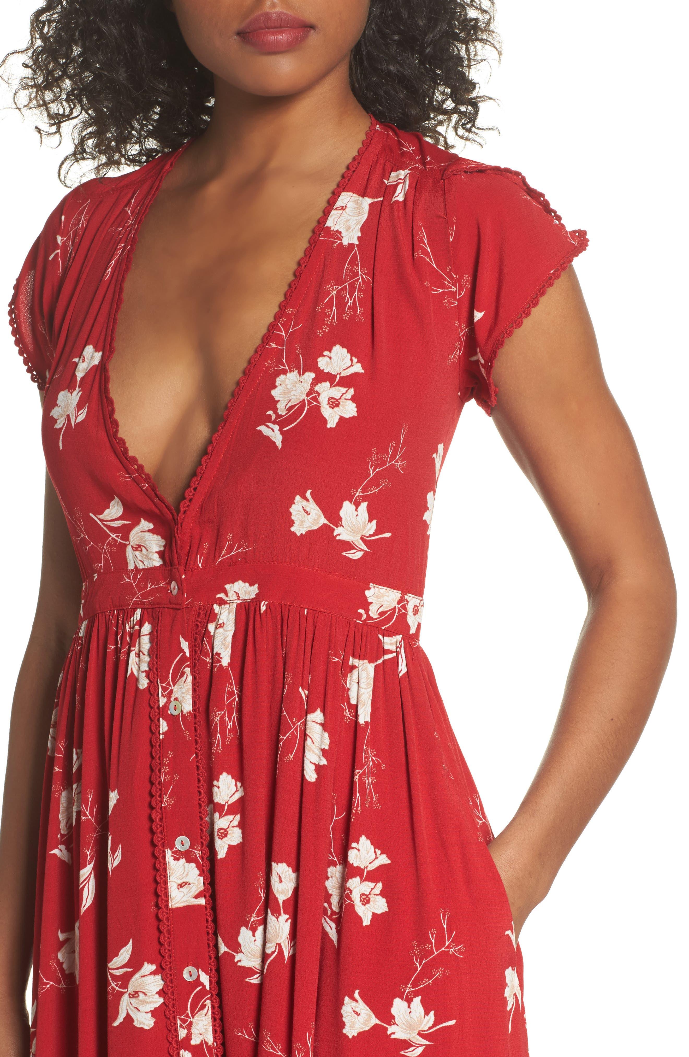 Domingo Midi Dress,                             Alternate thumbnail 4, color,                             617