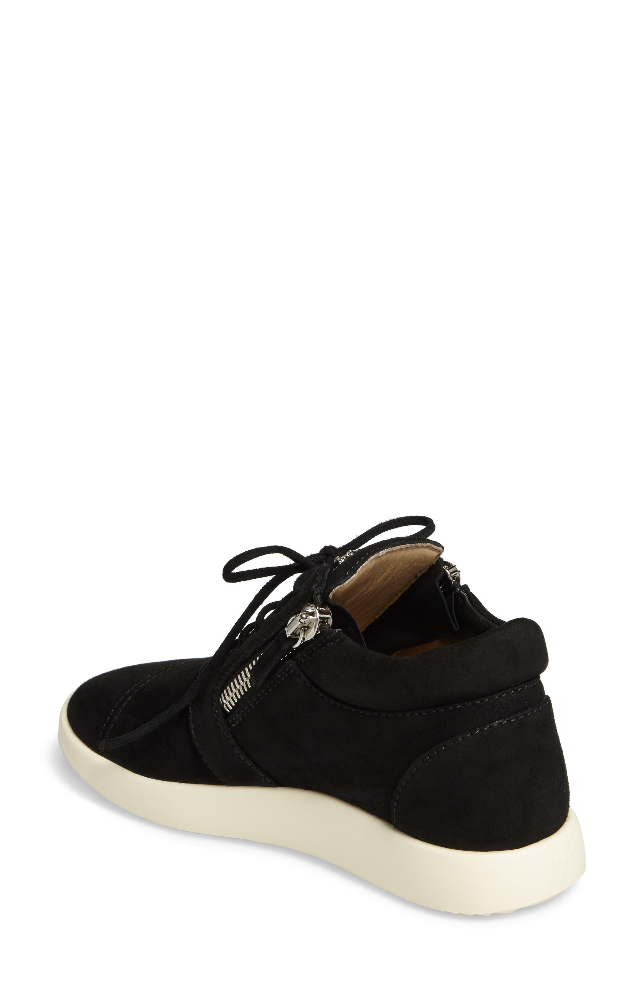 Zip Mid-Top Sneaker,                             Alternate thumbnail 2, color,                             001