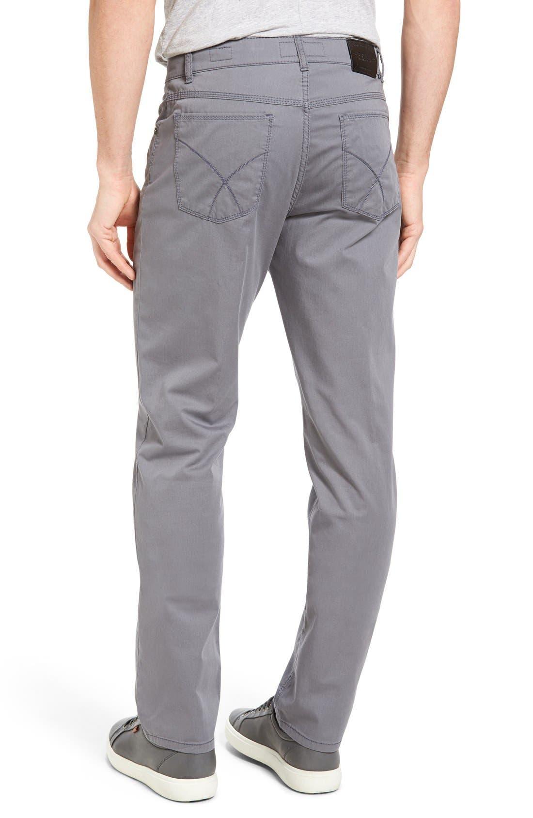 BRAX,                             Cooper Prestige Stretch Cotton Pants,                             Alternate thumbnail 8, color,                             GRAPHITE