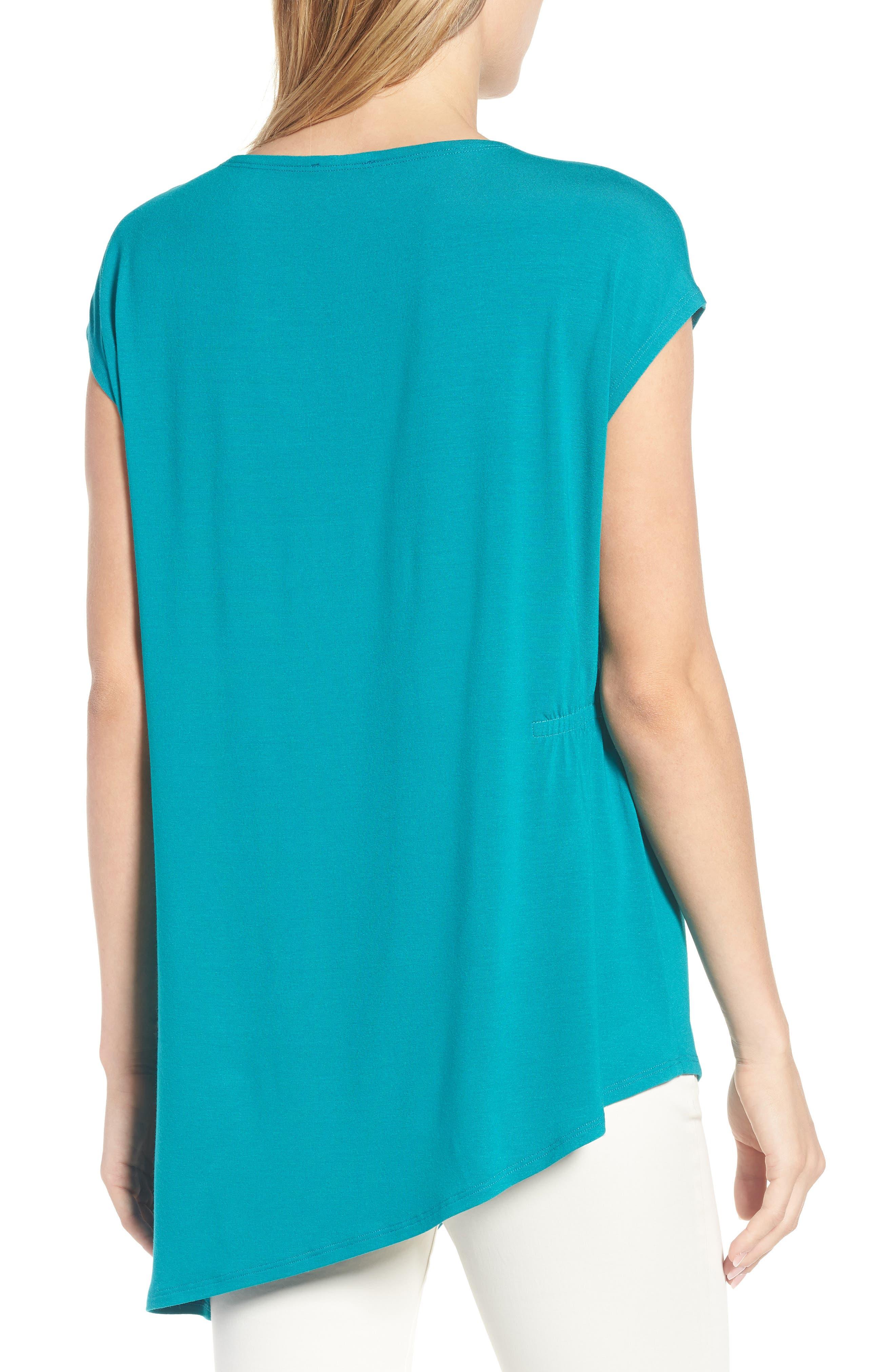 Asymmetrical Stretch Jersey Top,                             Alternate thumbnail 7, color,