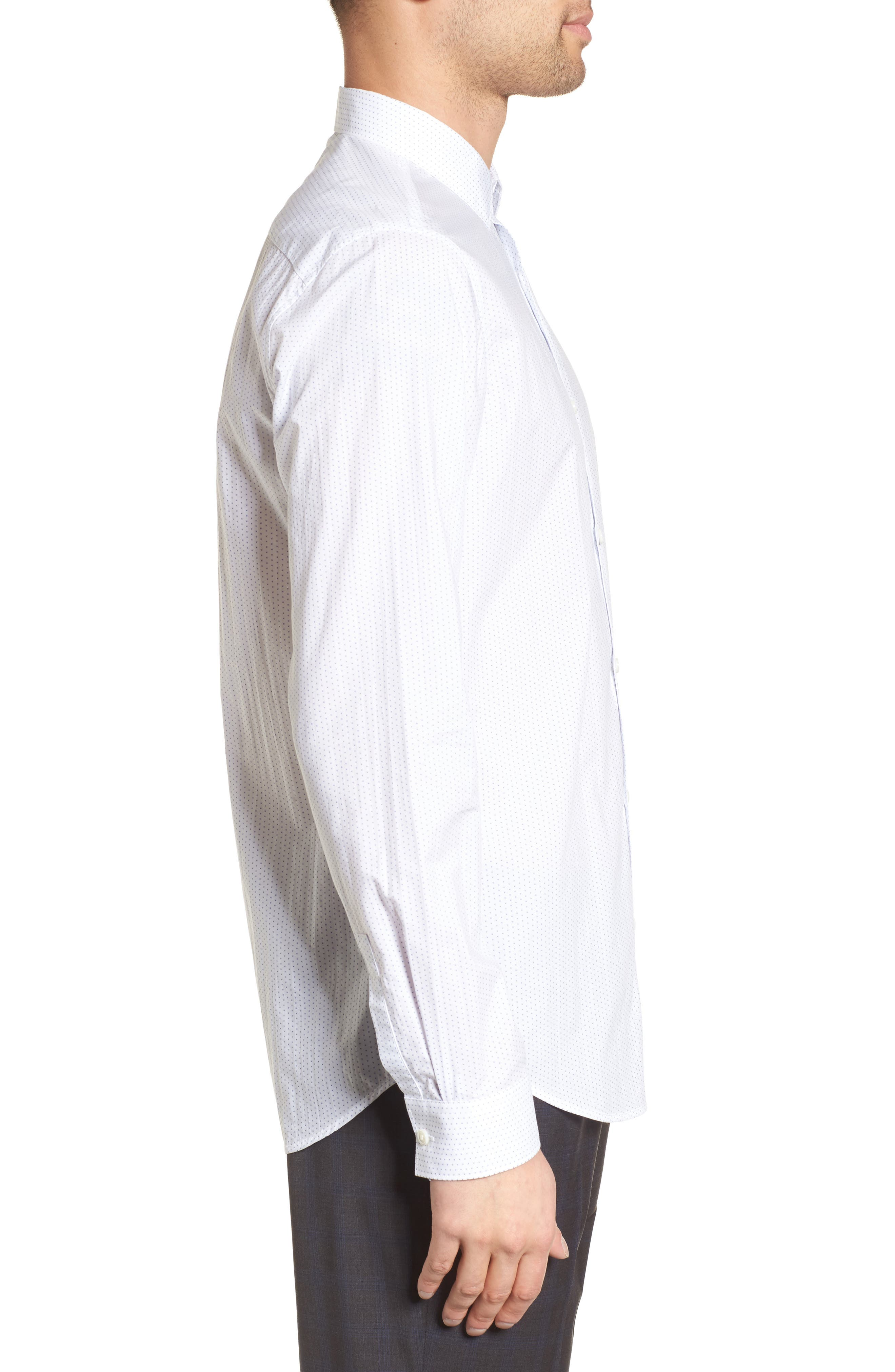 Murray Slim Fit Sport Shirt,                             Alternate thumbnail 3, color,                             100