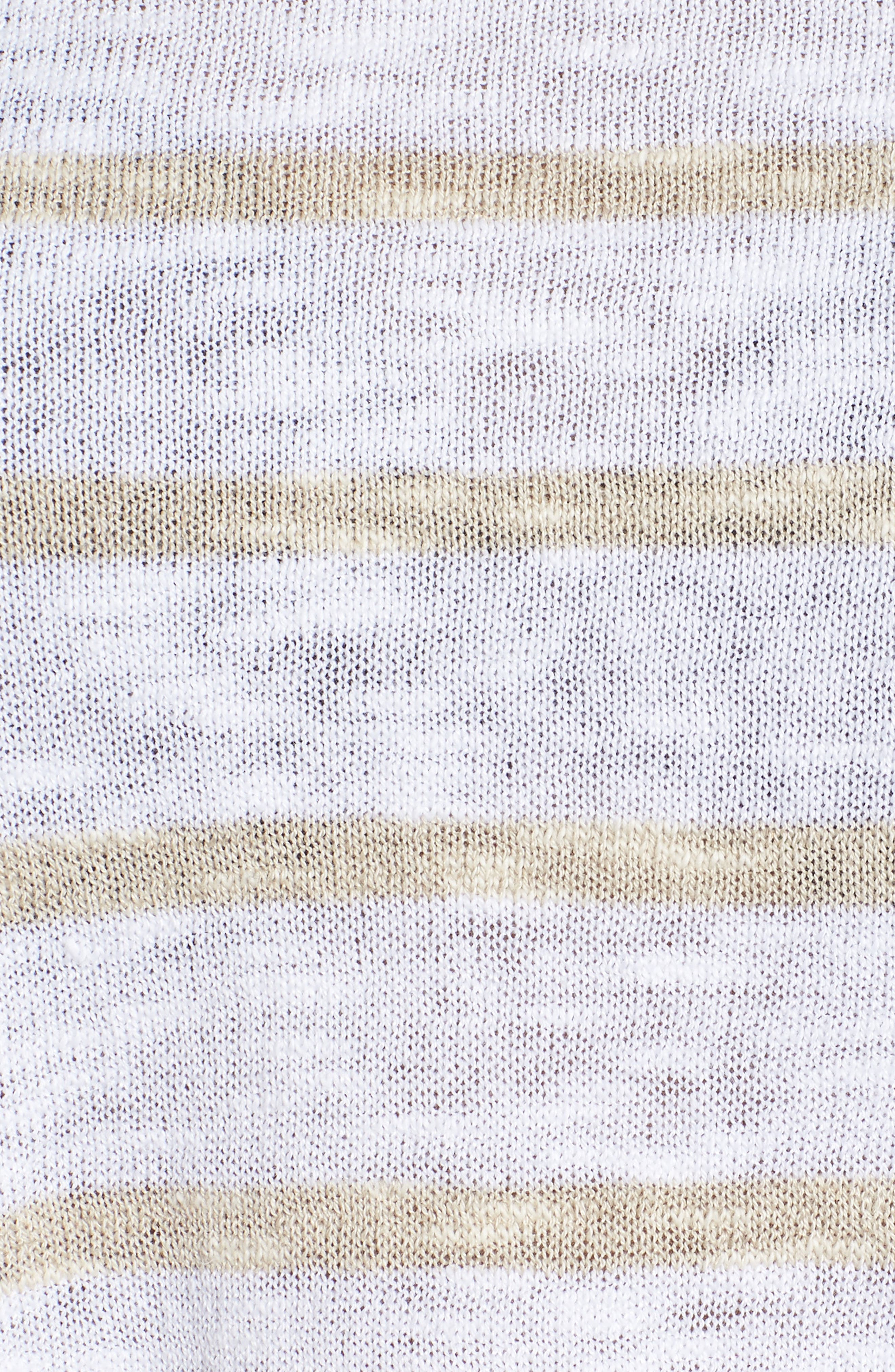 Stripe Organic Linen & Cotton Sweater,                             Alternate thumbnail 6, color,                             138