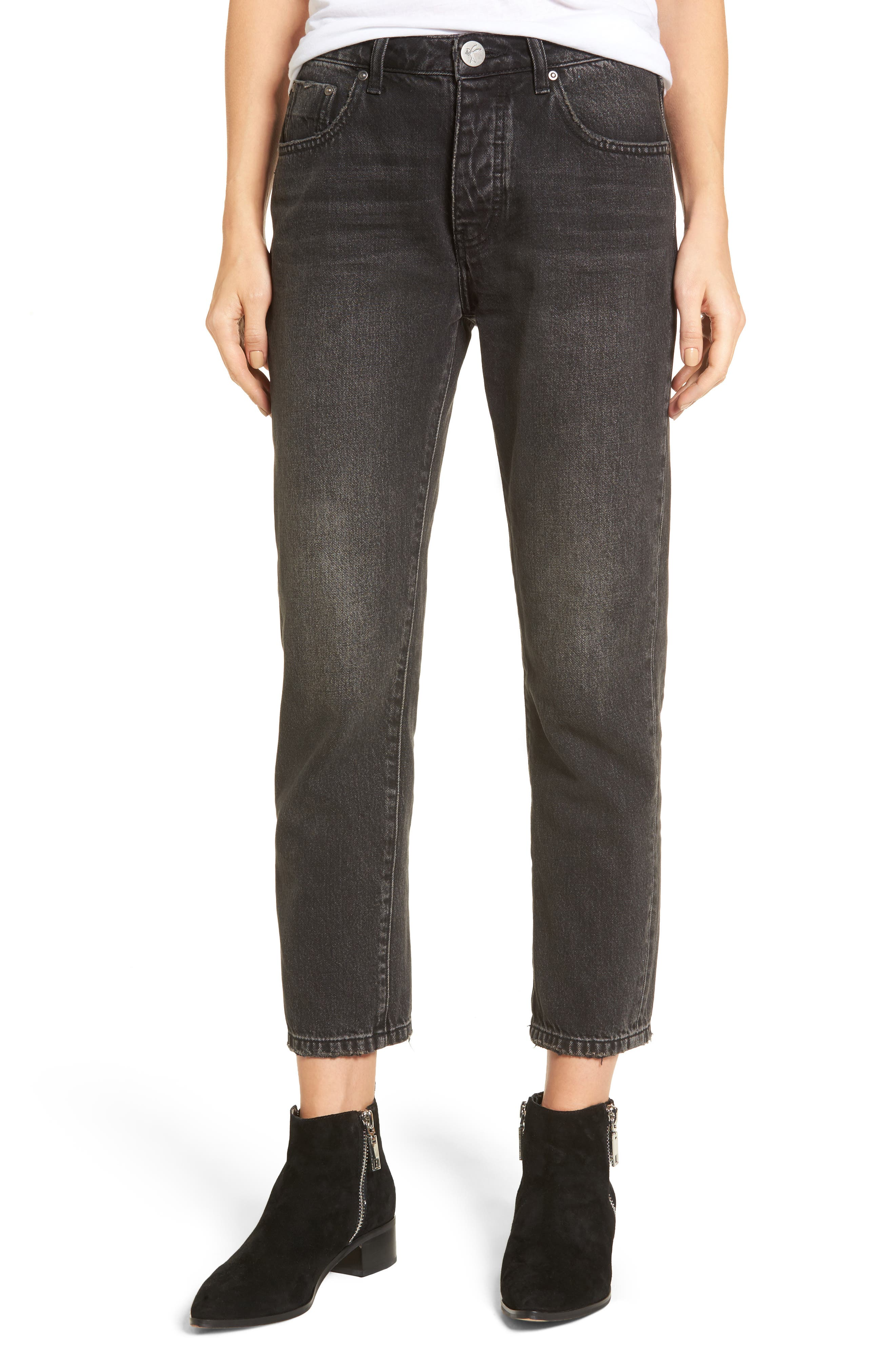 Truckers Straight Leg Jeans,                         Main,                         color, 001