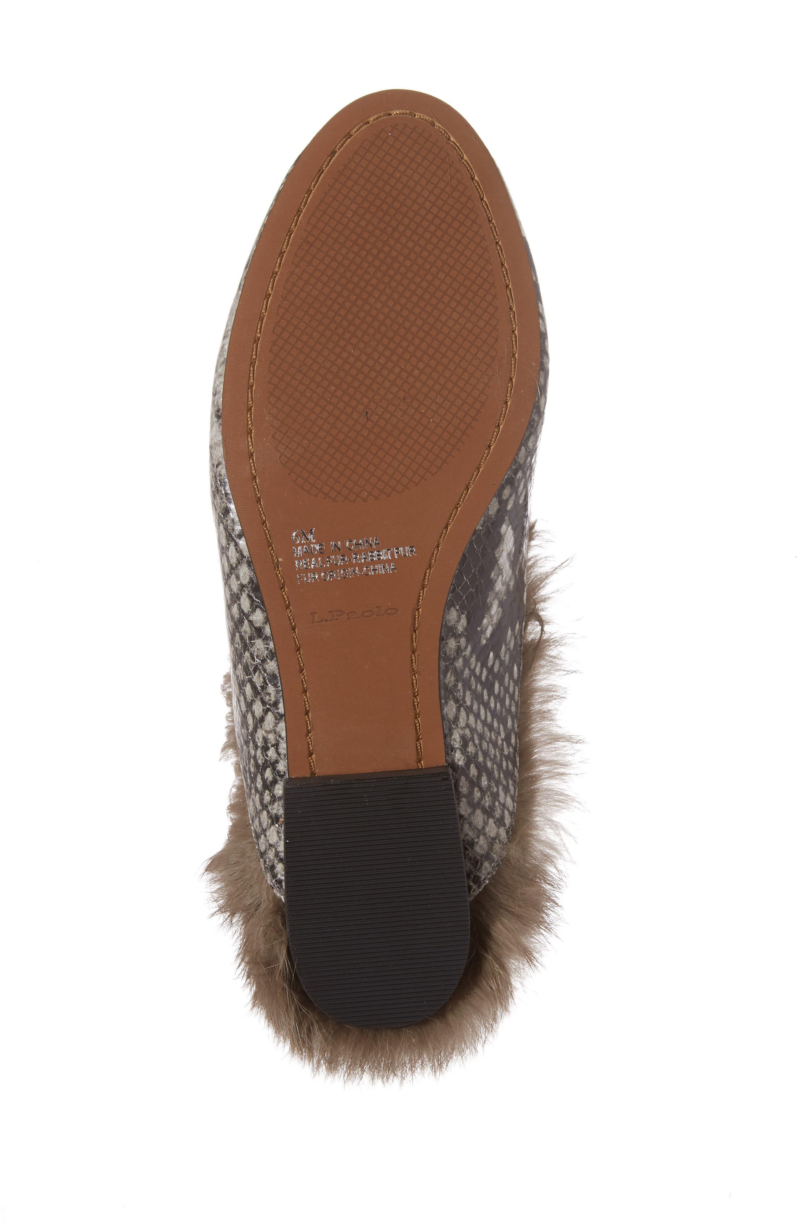 Asha Genuine Rabbit Fur Mule,                             Alternate thumbnail 12, color,