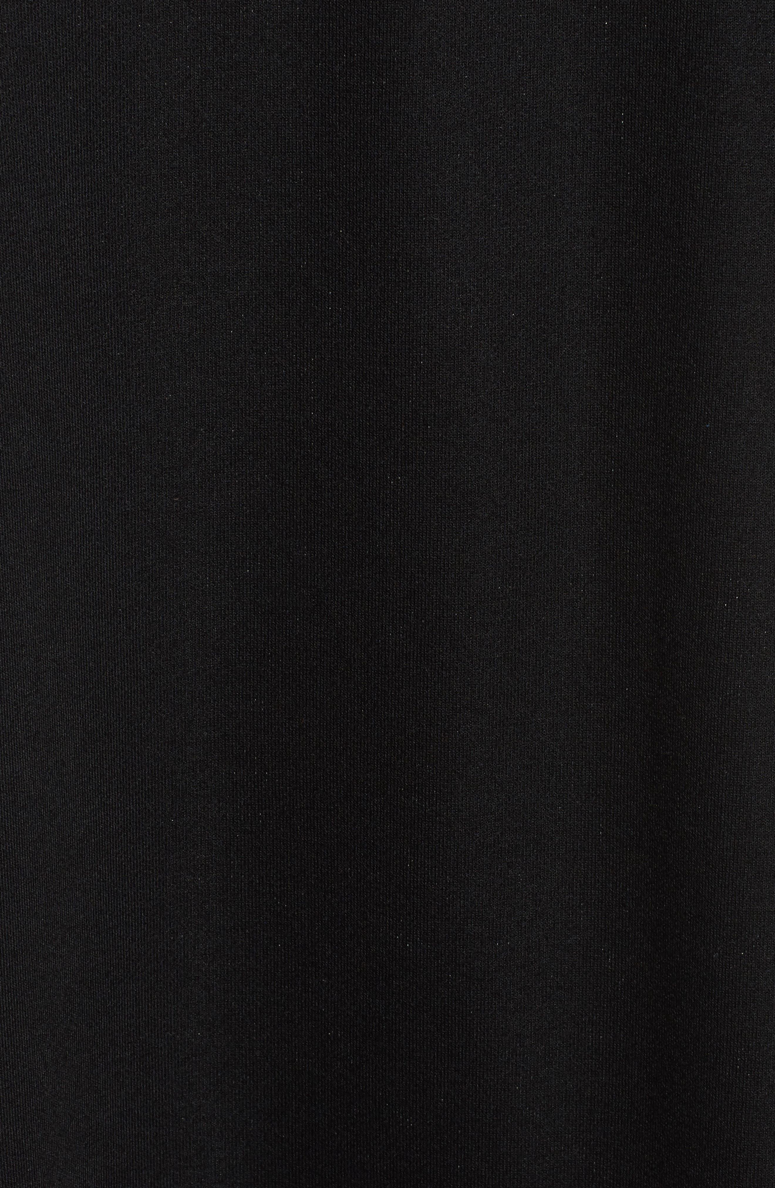 CHELSEA28,                             Ruffle Hem Sweatshirt Dress,                             Alternate thumbnail 5, color,                             001