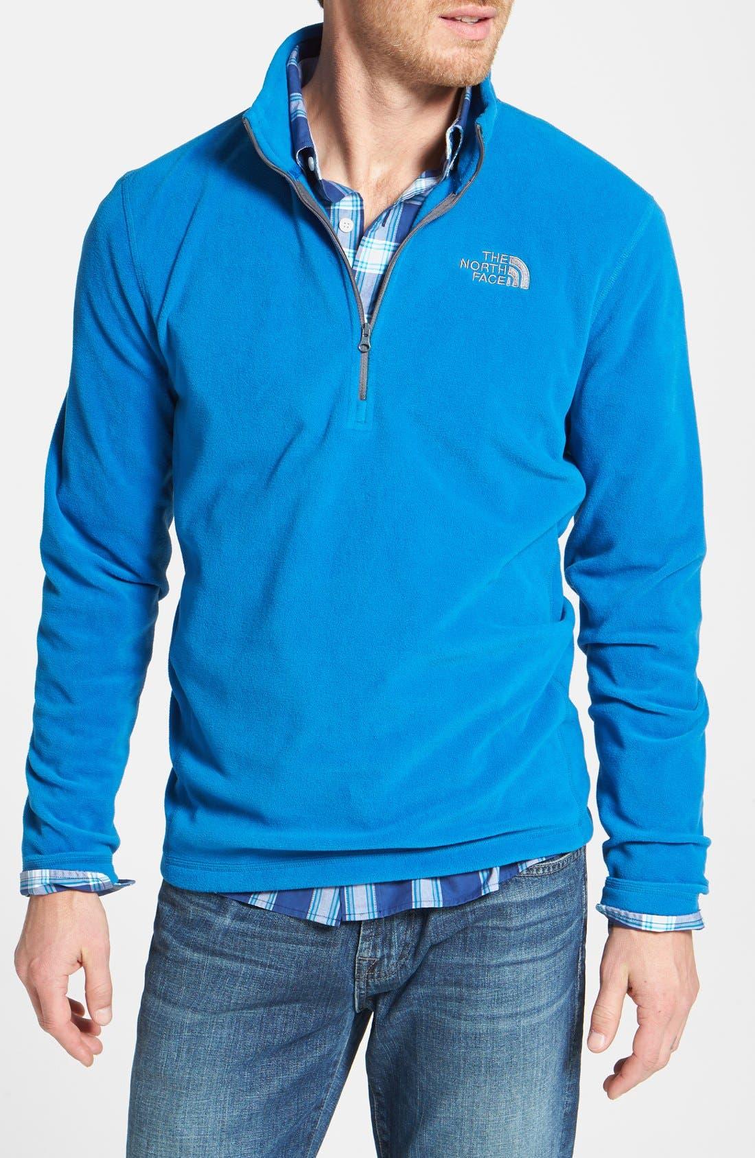 'TKA 100 Glacier' Quarter Zip Fleece Pullover,                             Main thumbnail 5, color,